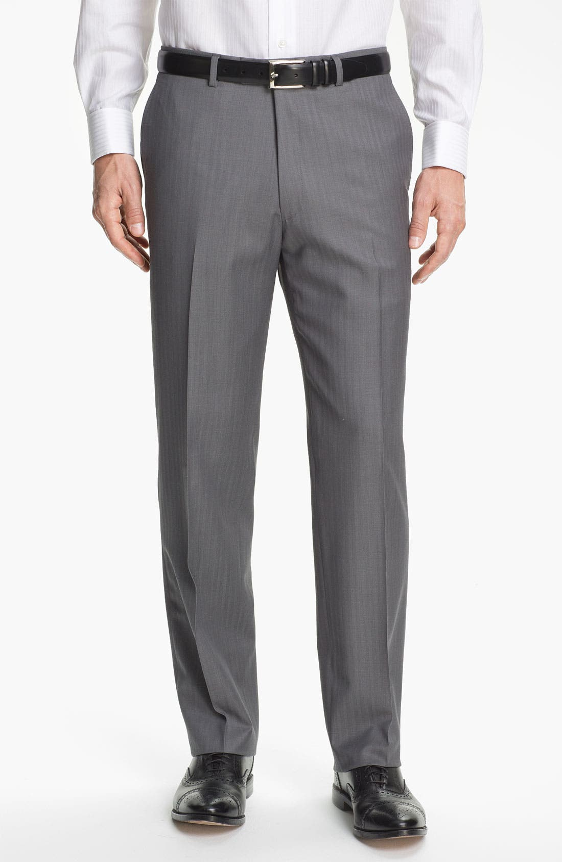 Alternate Image 5  - Hart Schaffner Marx Herringbone Suit