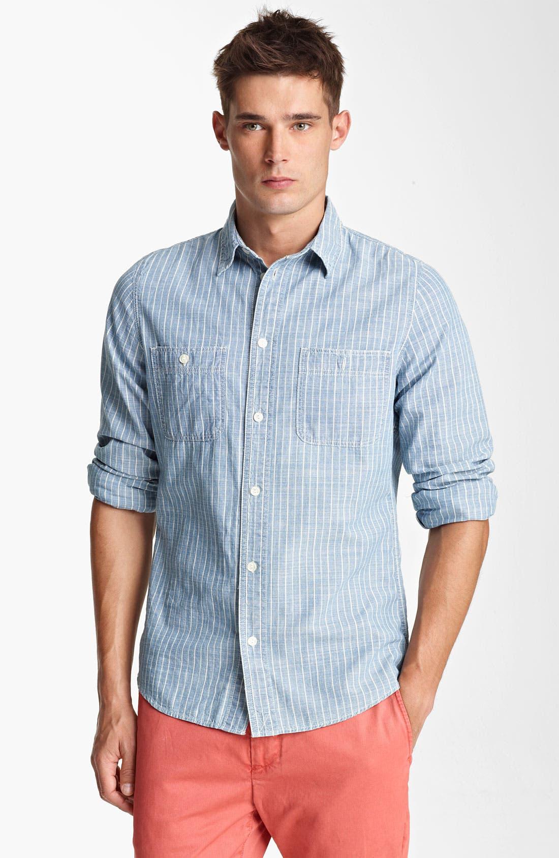 Main Image - Jack Spade 'Boomer' Stripe Work Shirt
