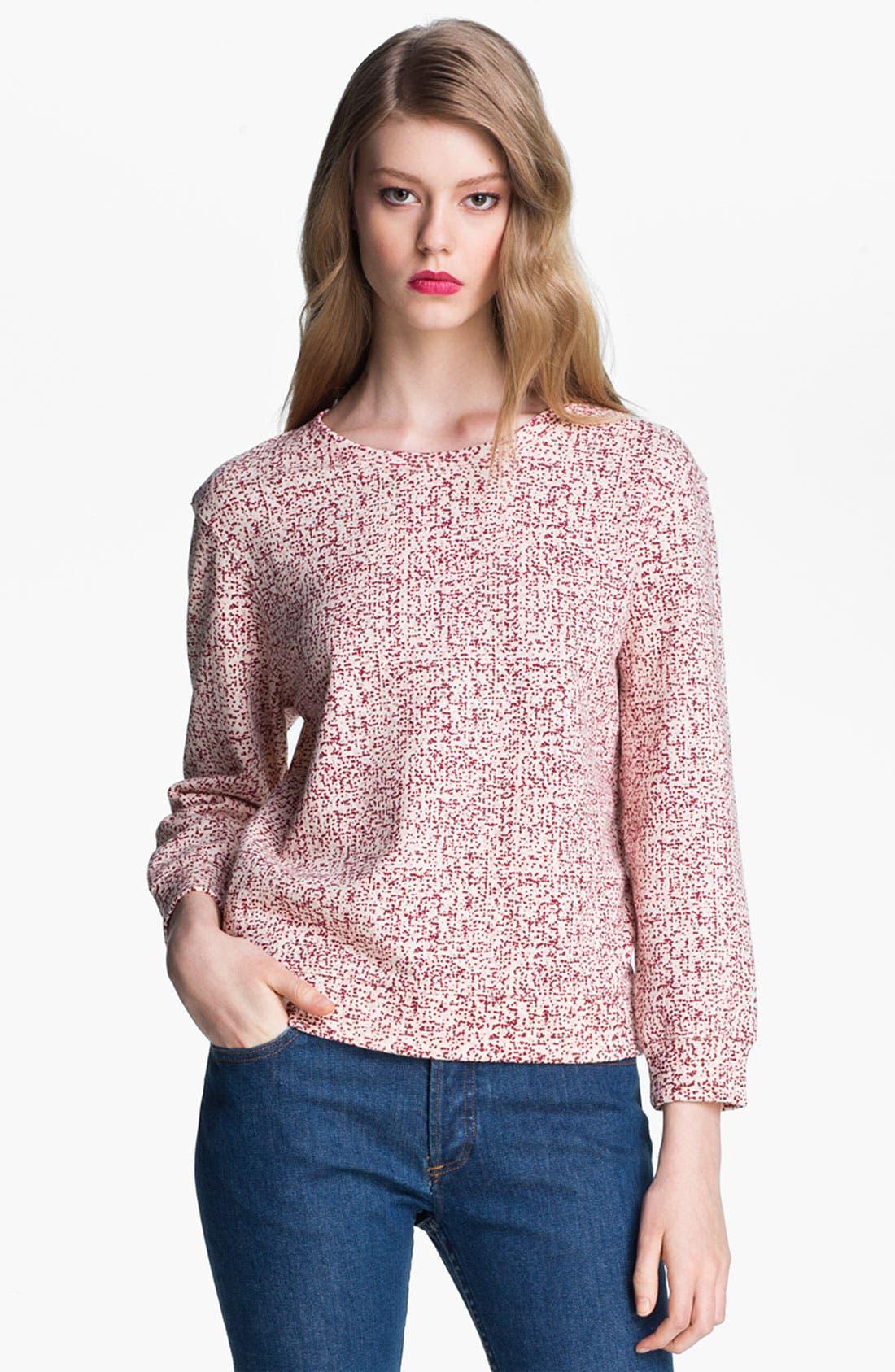 Alternate Image 2  - A.P.C. Print Blouson Sleeve Cotton Sweatshirt