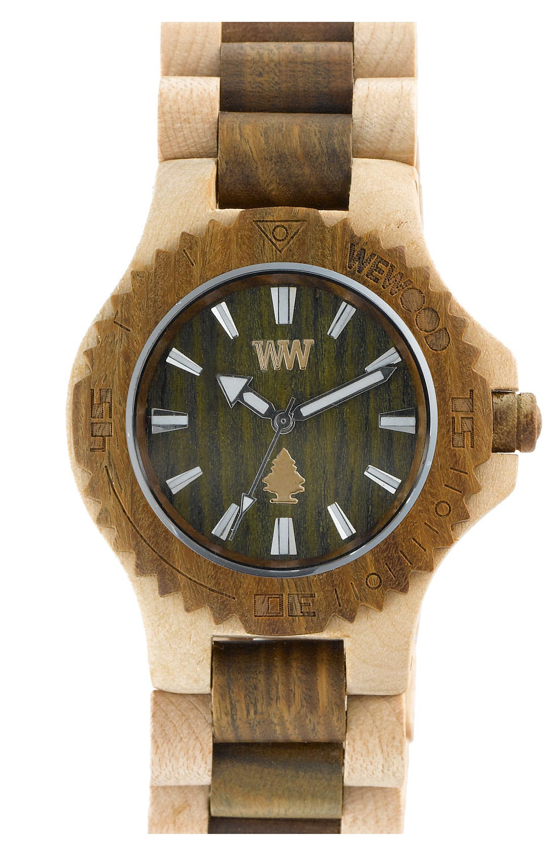 Main Image - WeWOOD 'Date' Two Tone Bracelet Watch, 40mm