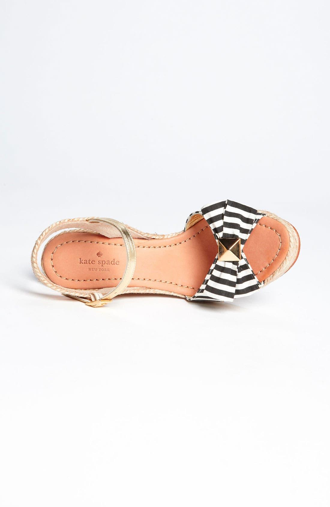 Alternate Image 3  - kate spade new york 'carmelita' wedge sandal