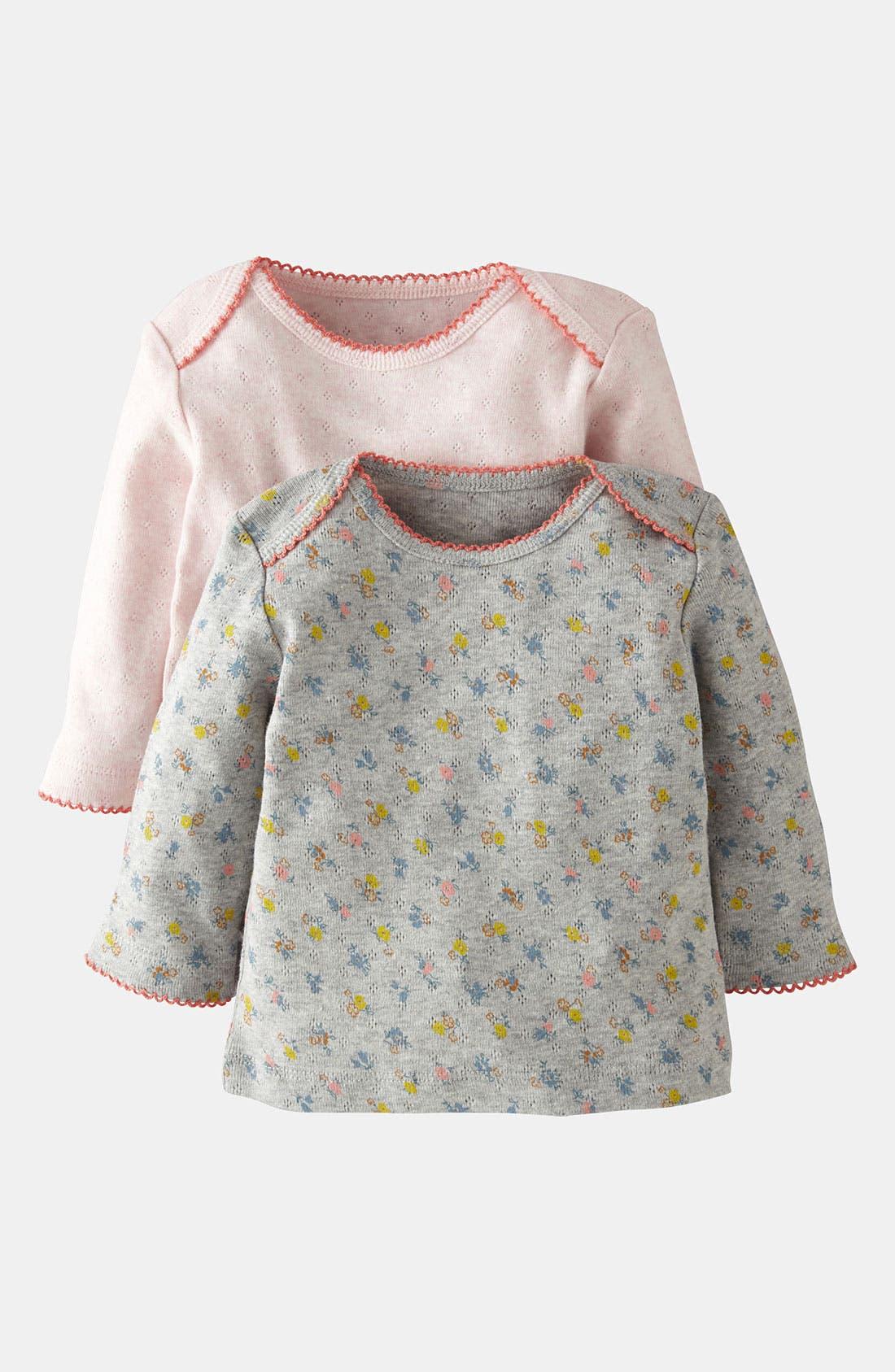Main Image - Mini Boden Pointelle Shirt (2-Pack) (Baby)