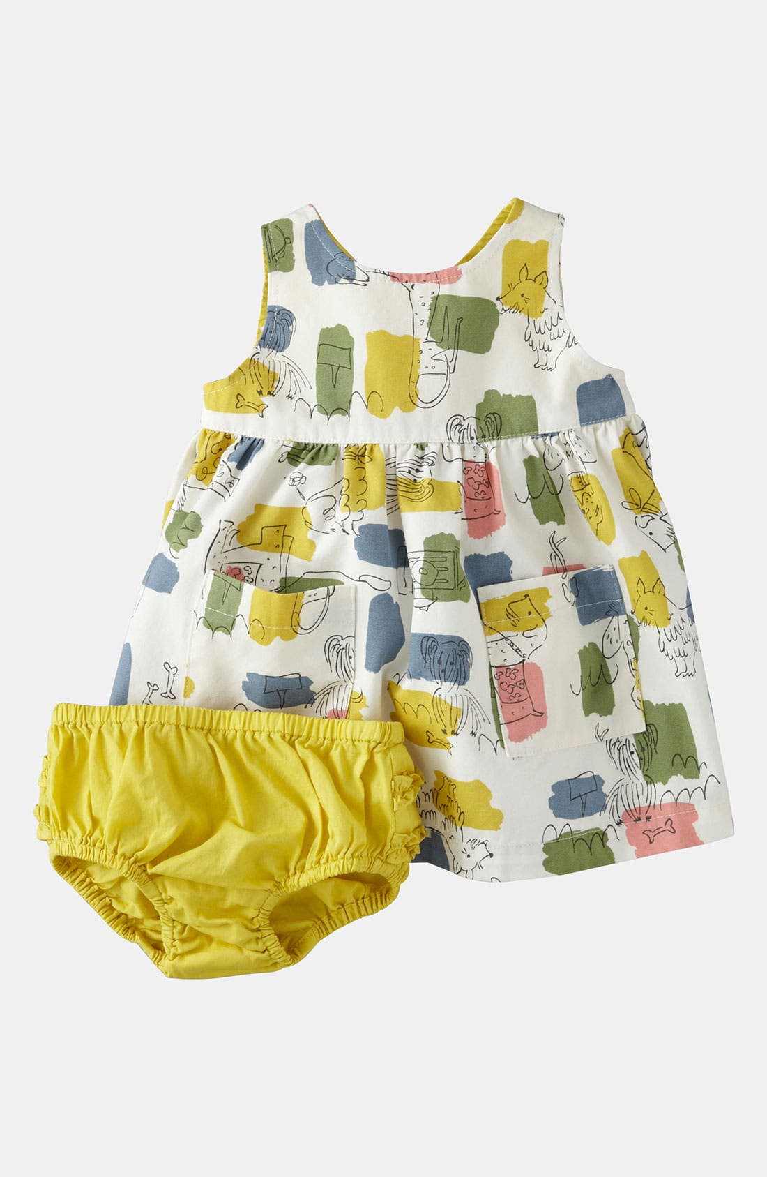 Alternate Image 1 Selected - Mini Boden Wrap Dress (Baby)