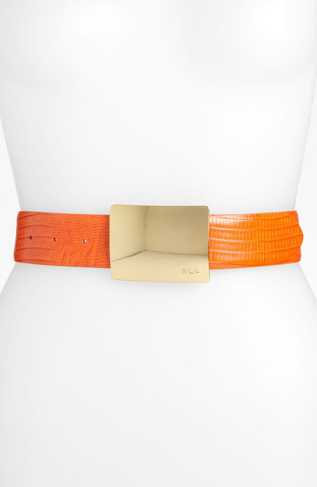 Alternate Image 1 Selected - Lauren Ralph Lauren Lizard Embossed Belt
