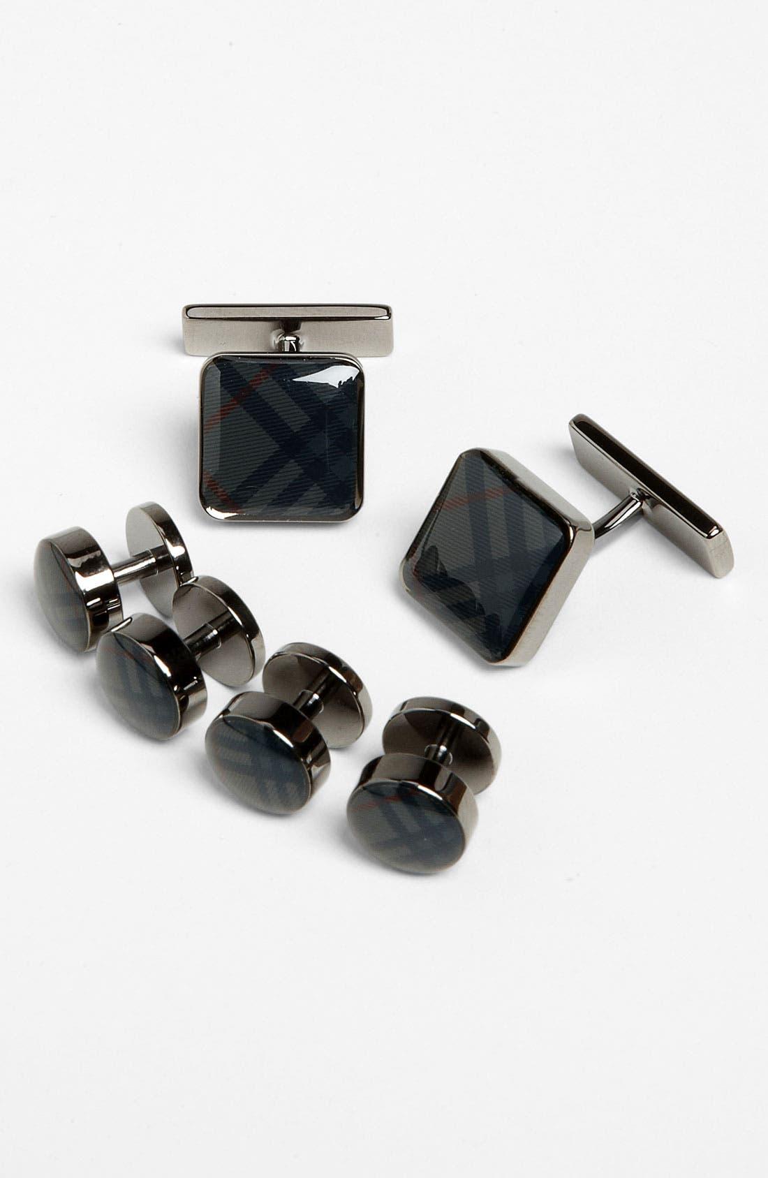 Main Image - Burberry Cuff Links & Shirt Stud Set