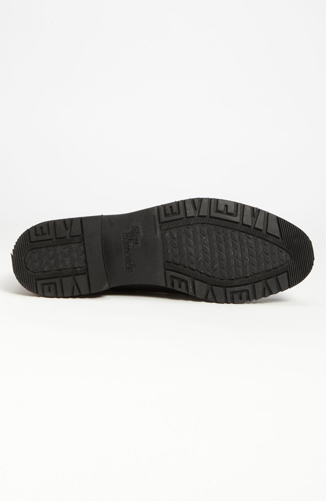 'Nashua' Tassel Loafer,                             Alternate thumbnail 4, color,                             Black/ Brown