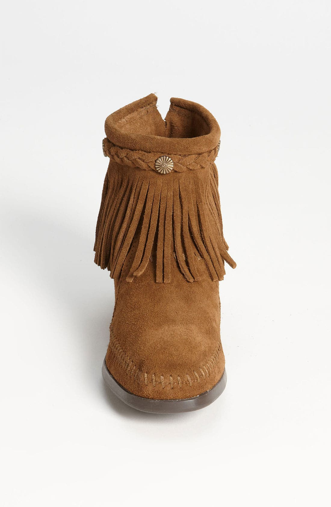 Alternate Image 3  - Minnetonka Fringed Moccasin Bootie (Women)