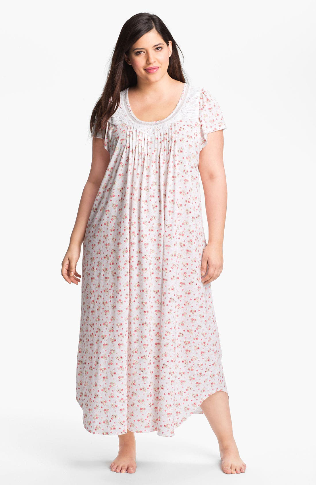 Alternate Image 1 Selected - Carole Hochman Designs 'Rose Cottage' Nightgown (Plus)