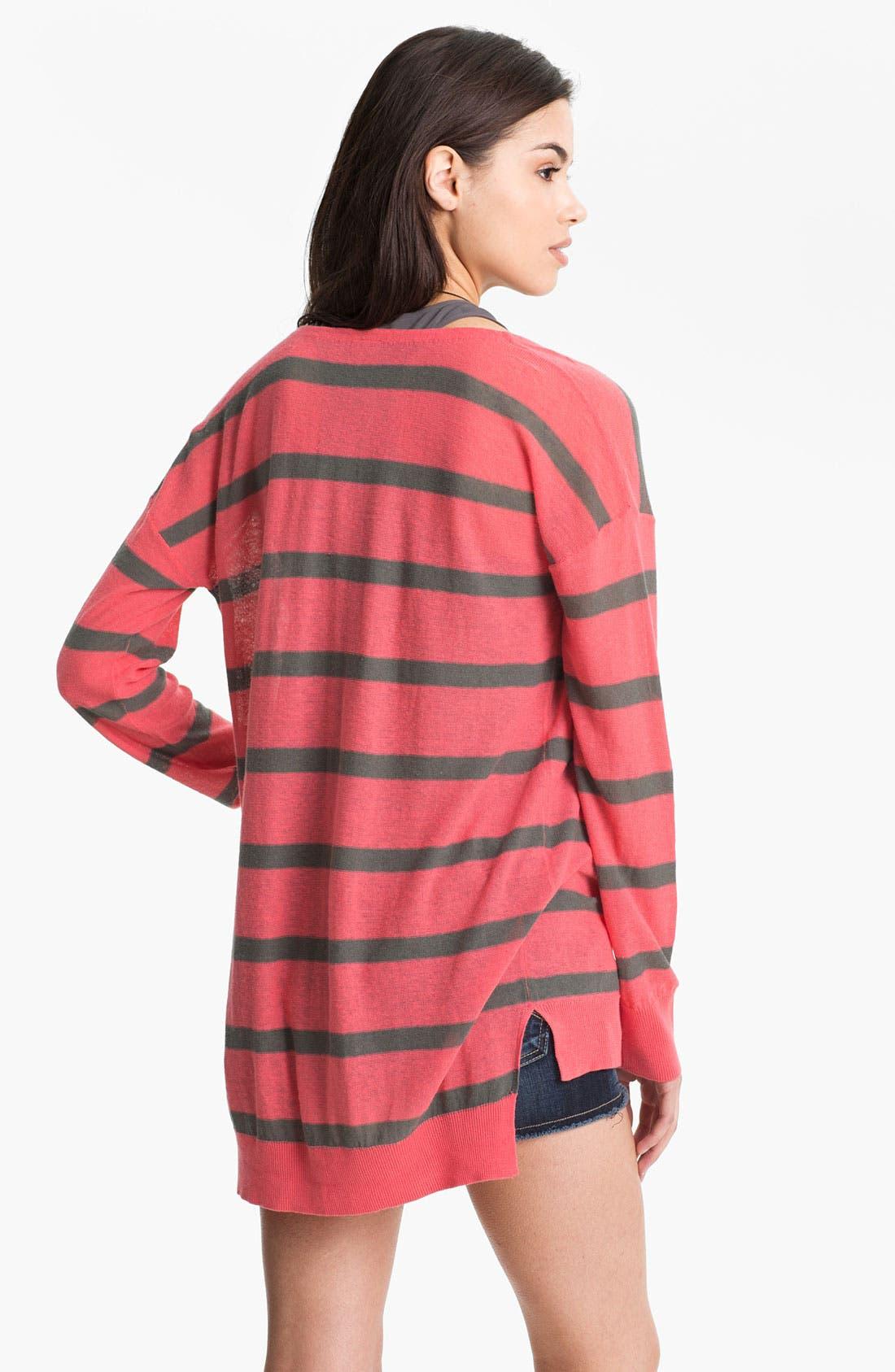 Alternate Image 2  - BP. Stripe Oversized Cardigan (Juniors)