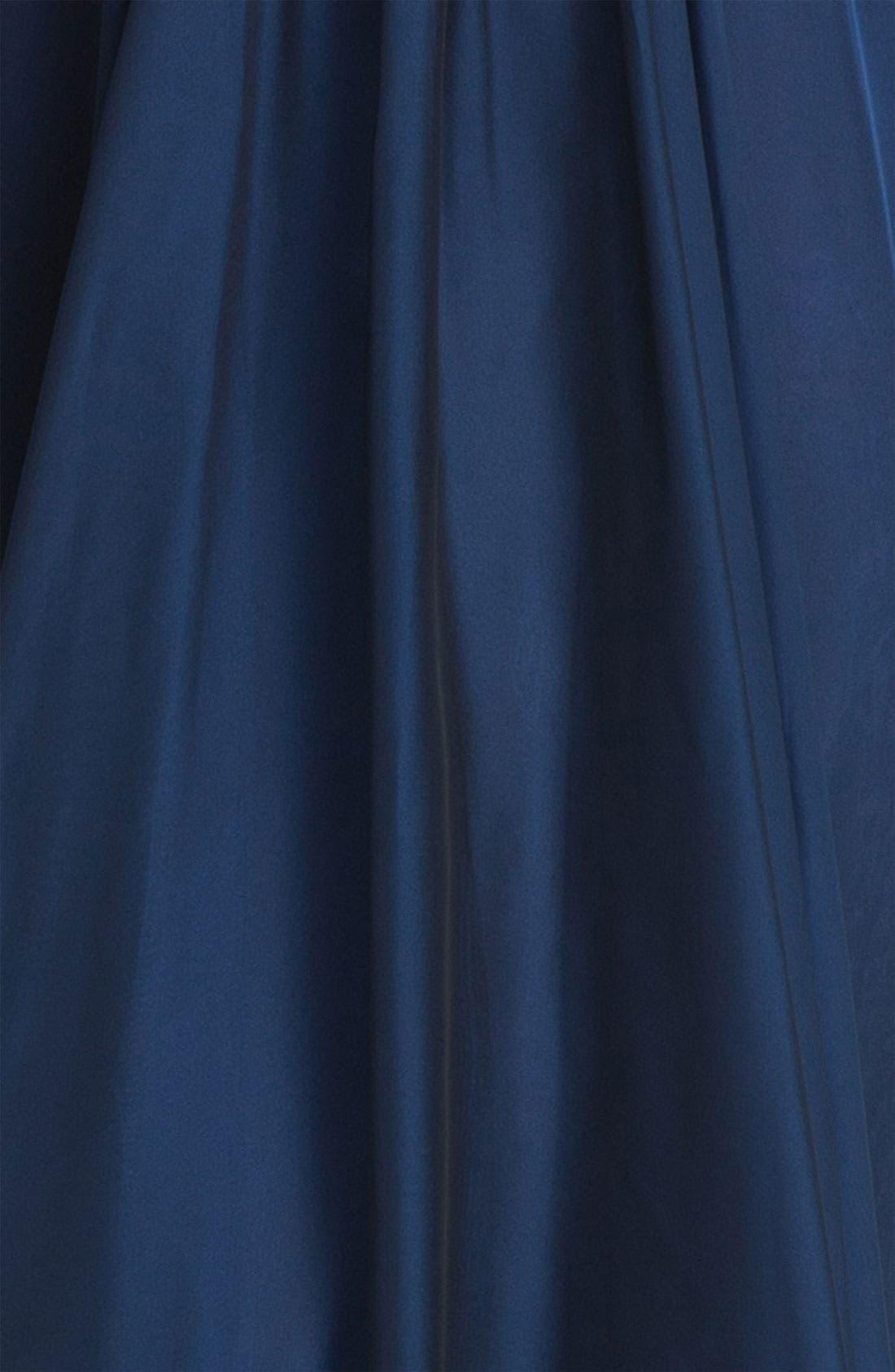 Alternate Image 3  - La Femme Embellished Chiffon Strapless Gown