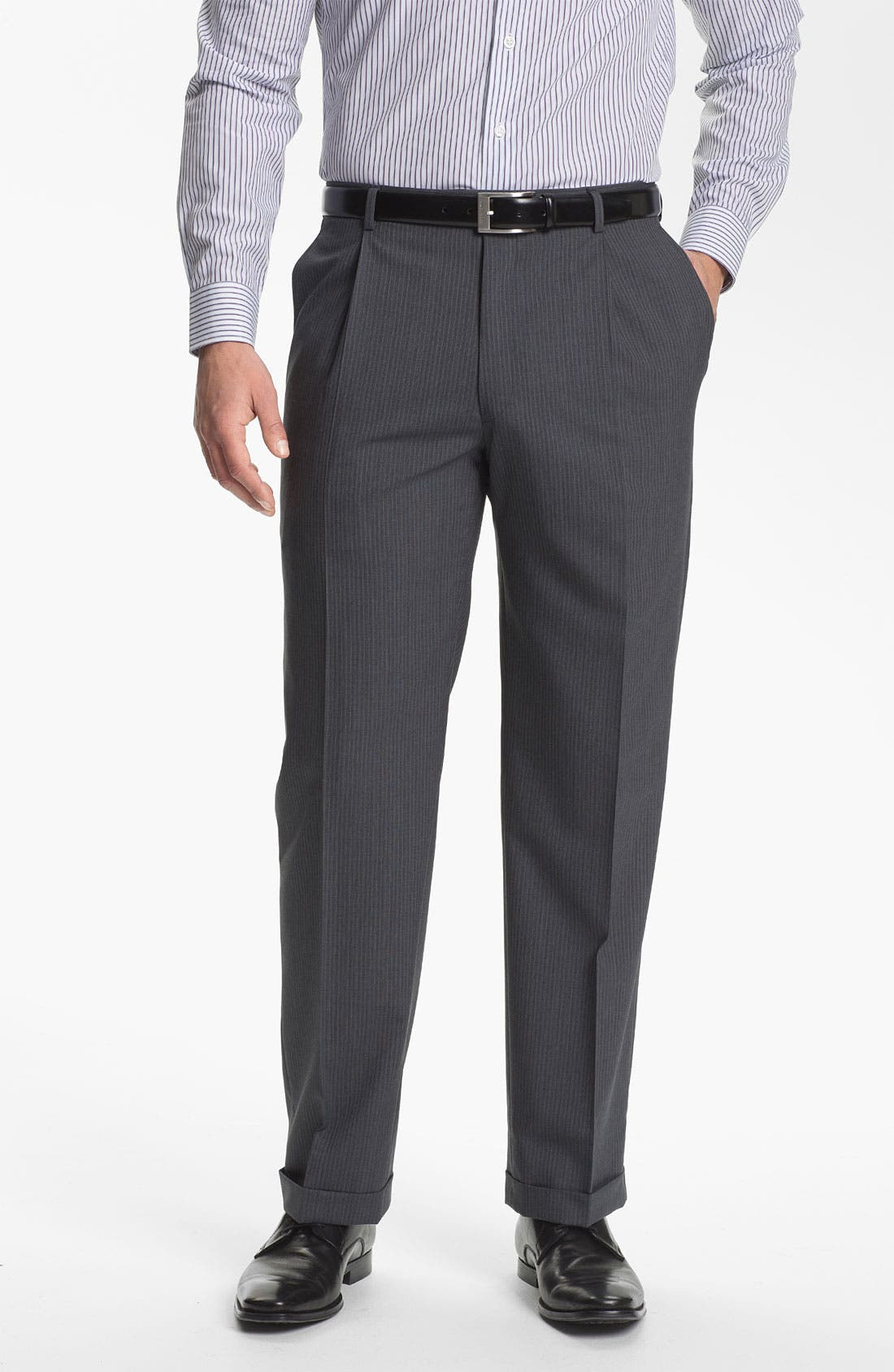 Alternate Image 4  - Hart Schaffner Marx Stripe Suit
