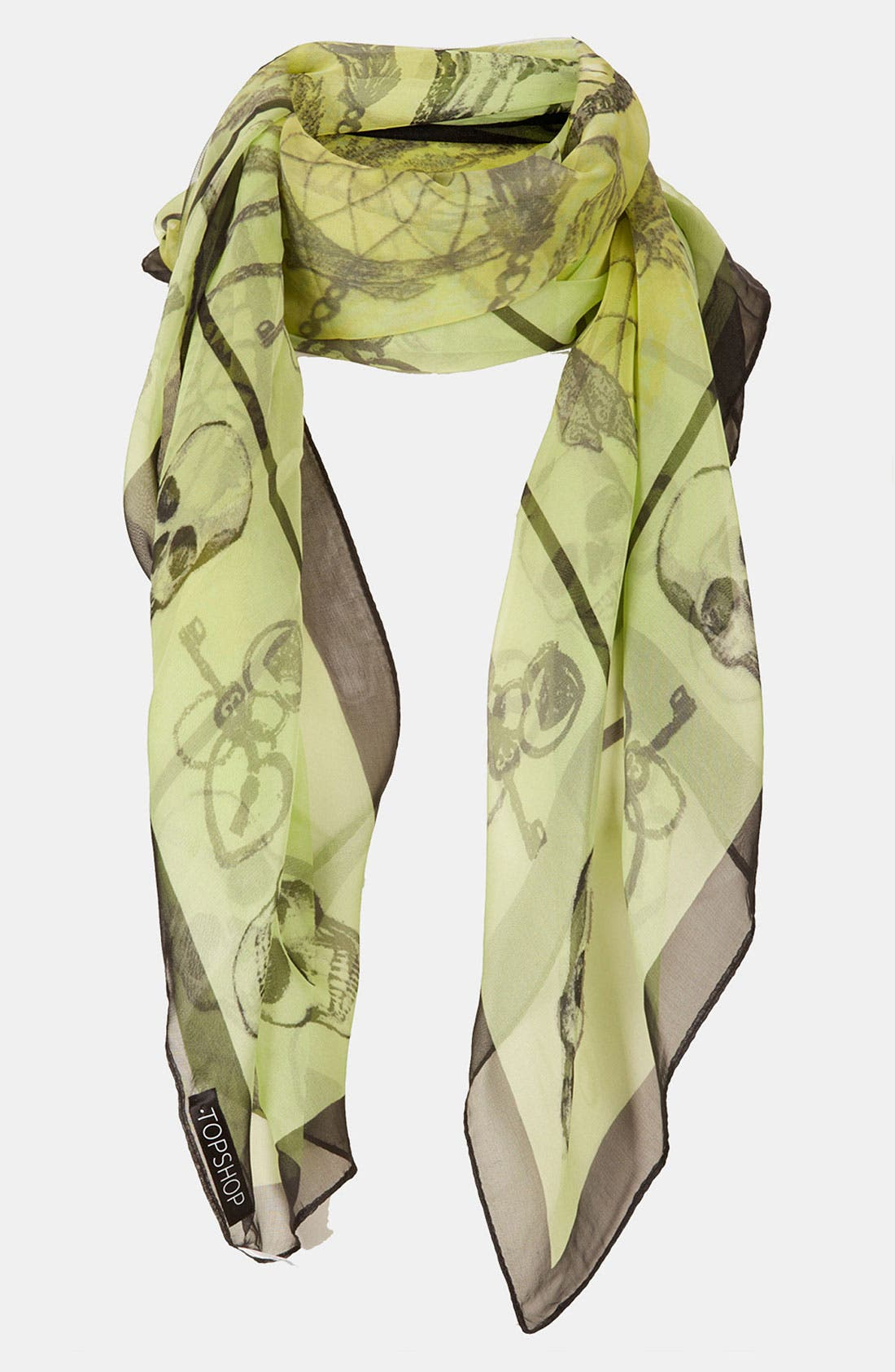Alternate Image 1 Selected - Topshop 'Dream Catcher & Skull' Scarf