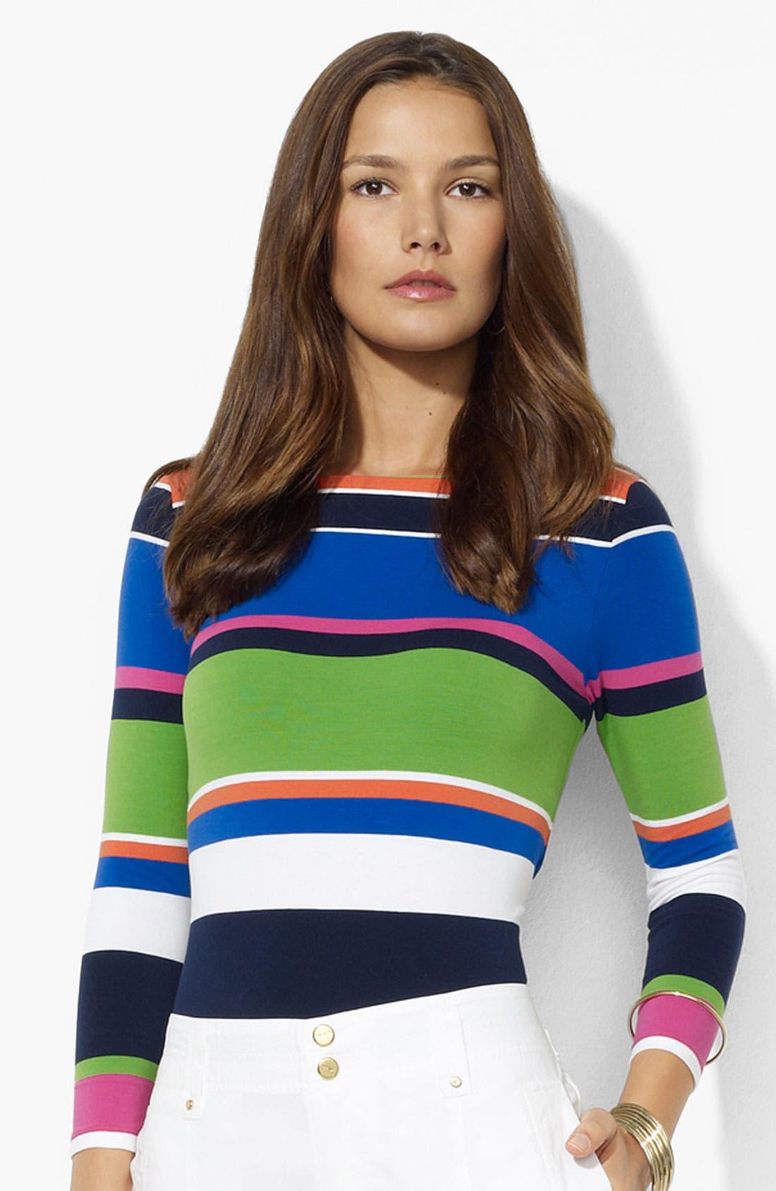 Alternate Image 1 Selected - Lauren Ralph Lauren Stripe Top