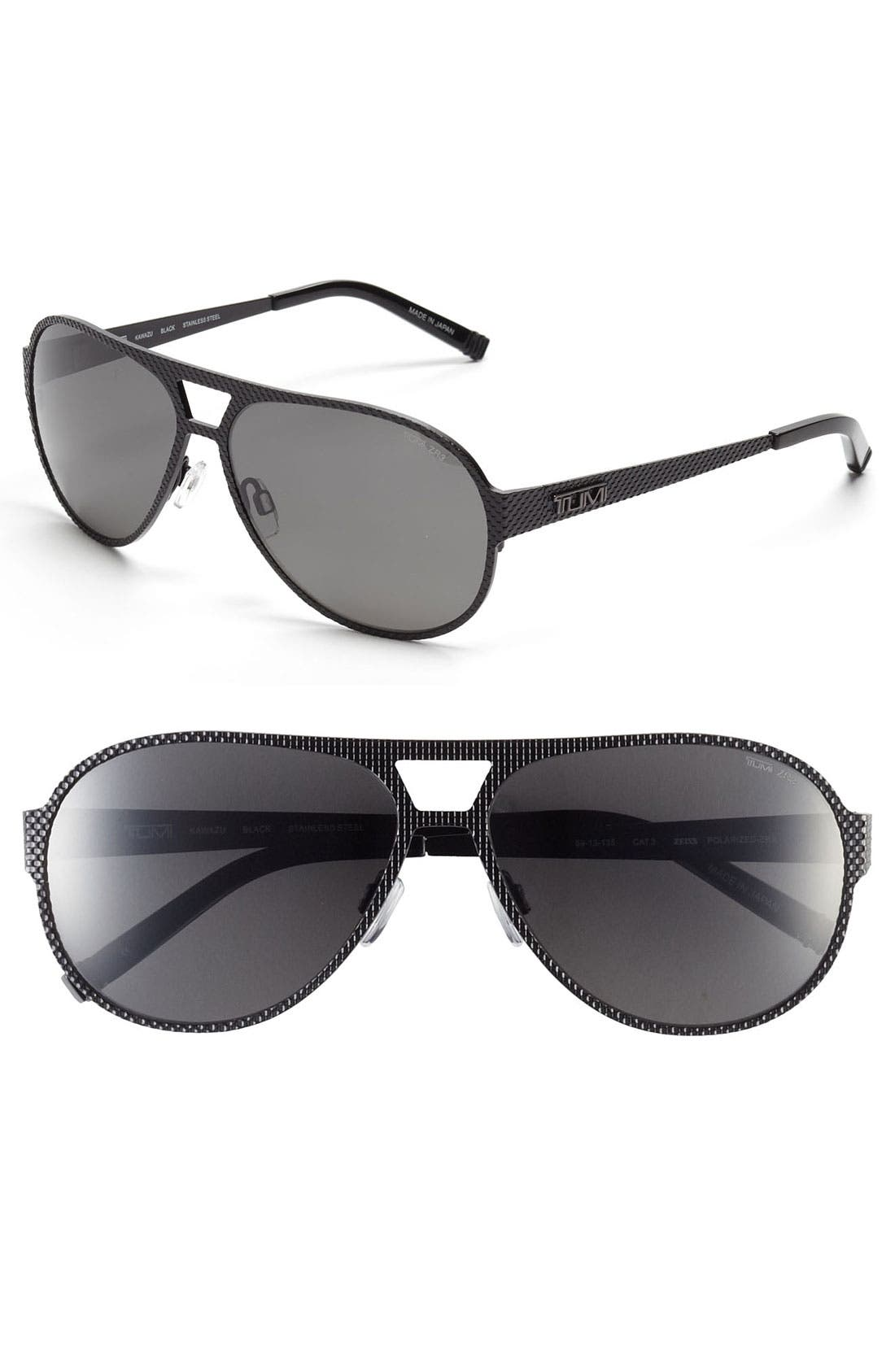 Alternate Image 1 Selected - Tumi 'Kawazu' 59mm Polarized Sunglasses