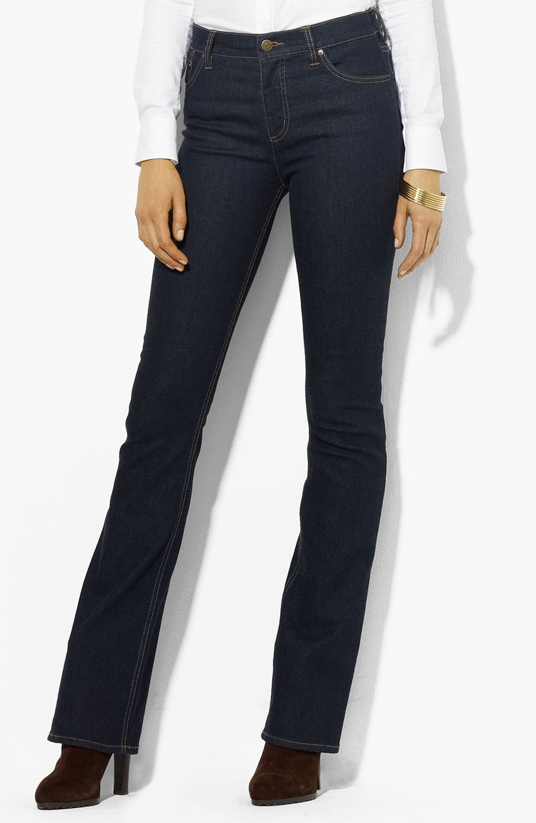 Alternate Image 1 Selected - Lauren Ralph Lauren Slimming Bootcut Jeans (Petite) (Online Only)