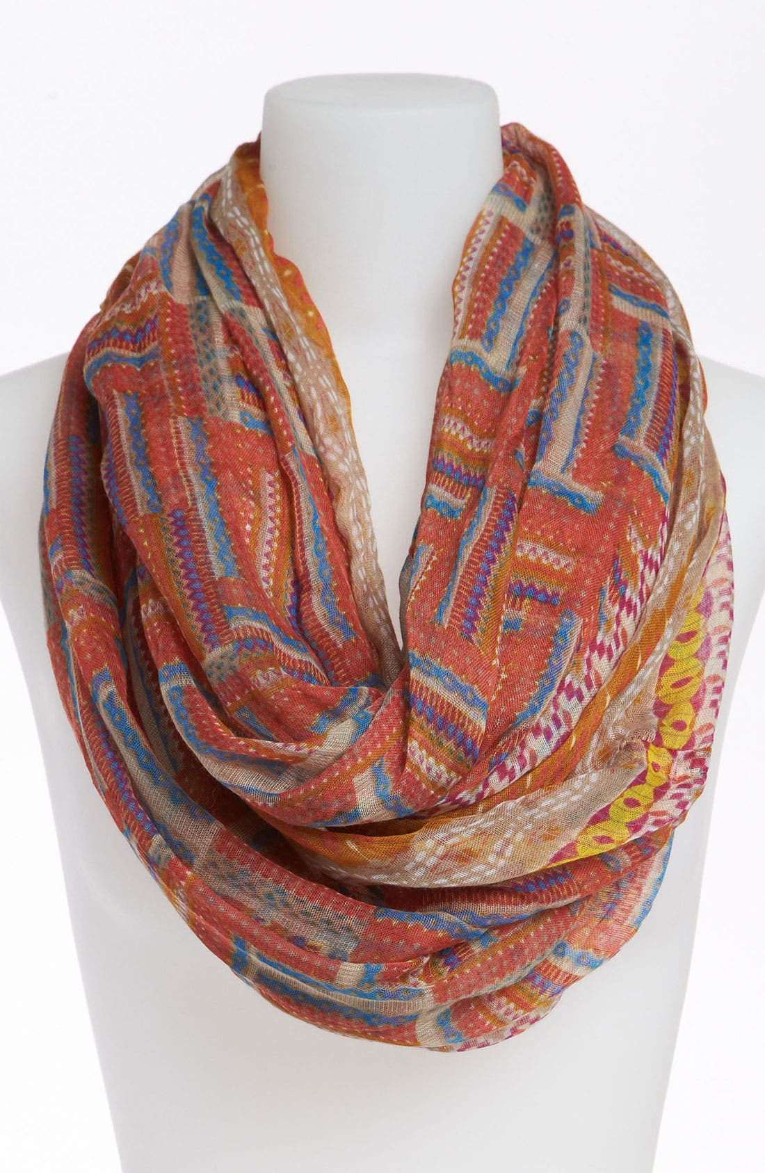 Alternate Image 1 Selected - David & Young Mix Print Infinity Scarf
