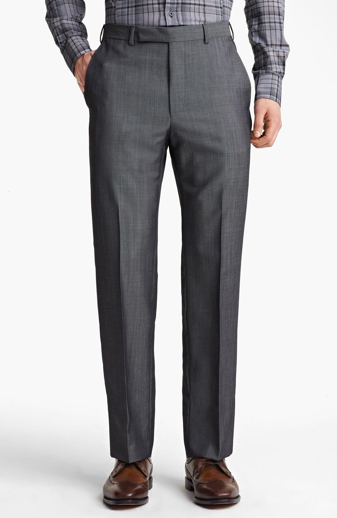 Alternate Image 4  - Z Zegna Trim Fit Wool Blend Suit