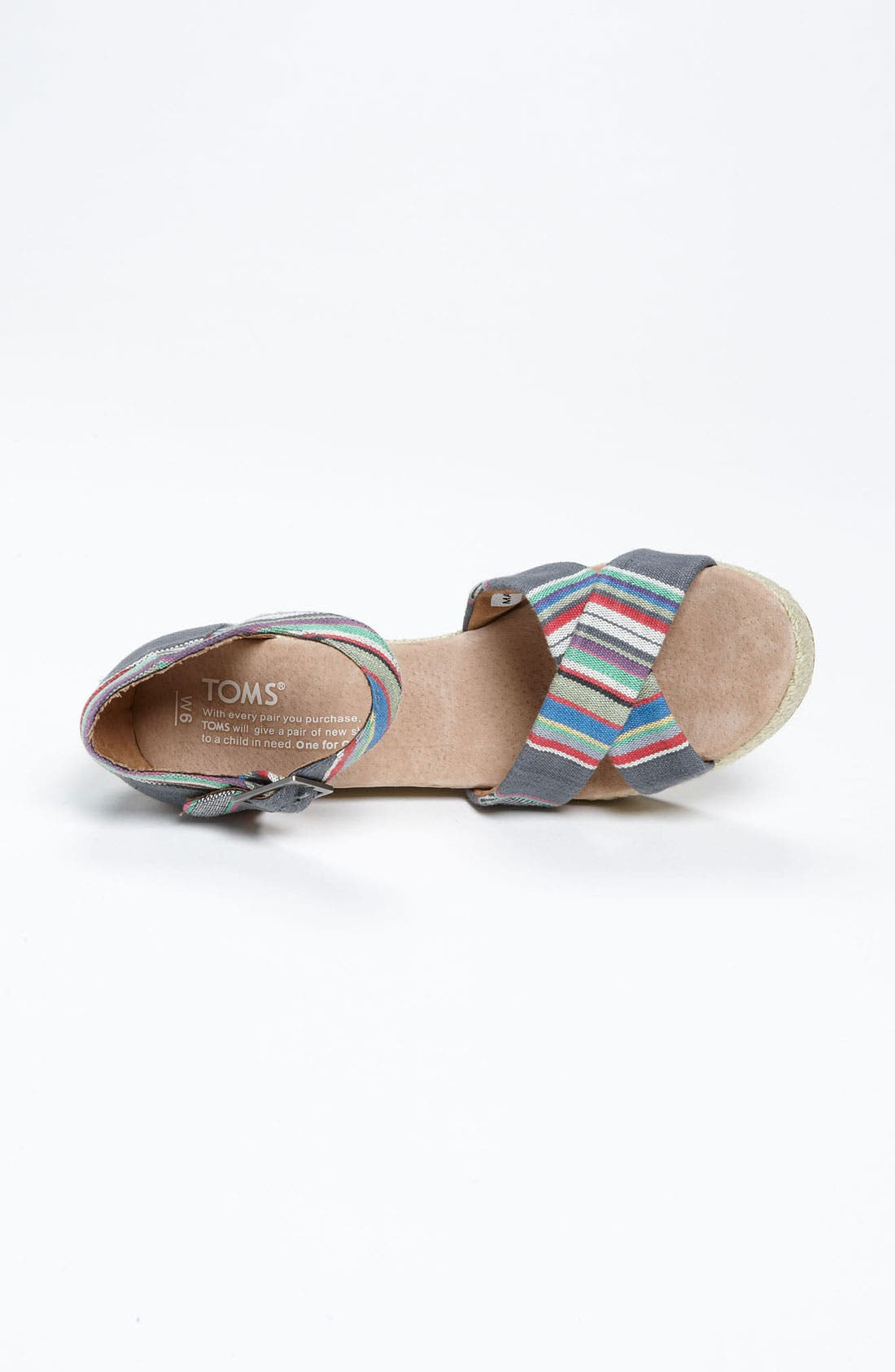Alternate Image 3  - TOMS Denim Stripe Wedge Sandal