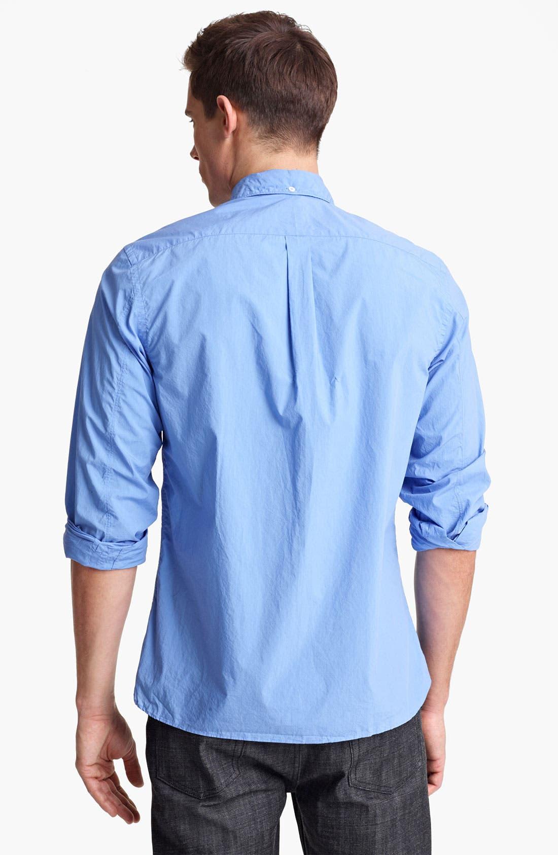 Alternate Image 2  - Todd Snyder Cotton Poplin Sport Shirt