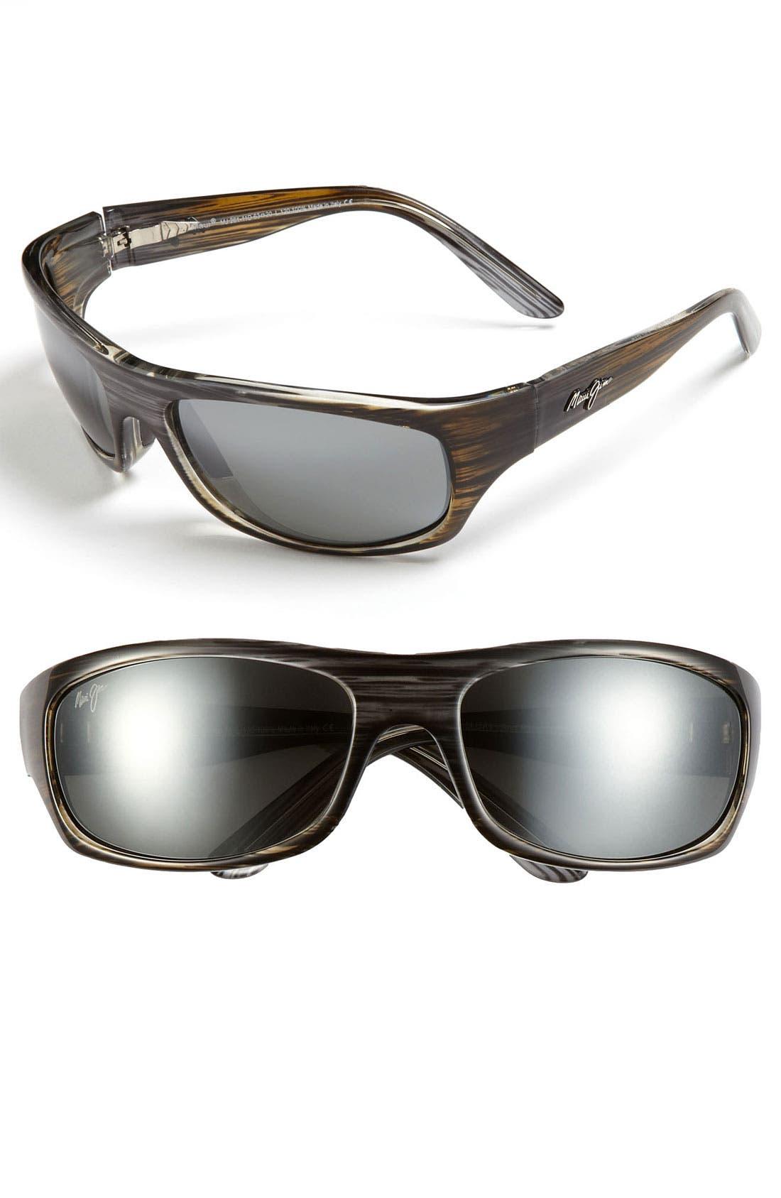 'Surf Rider - PolarizedPlus<sup>®</sup>2' 63mm Sunglasses,                         Main,                         color, Grey/ Black