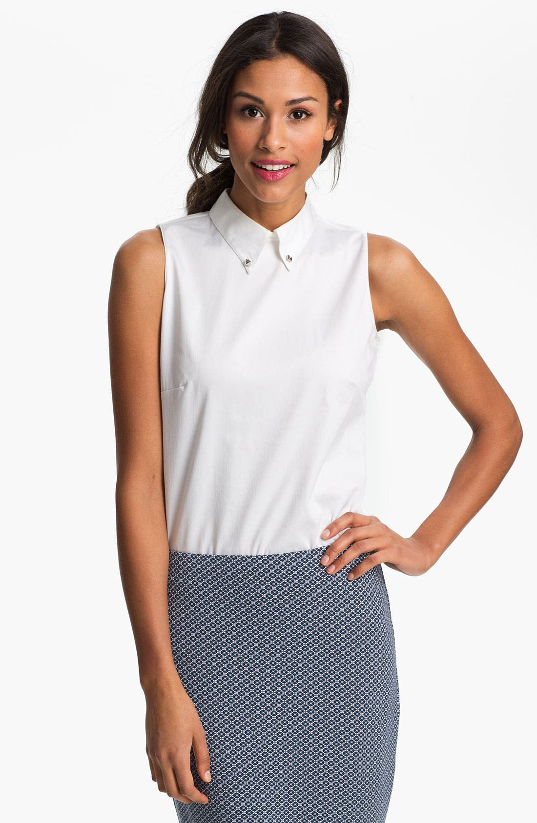 Alternate Image 1 Selected - Vince Camuto Button Down Collar Blouse