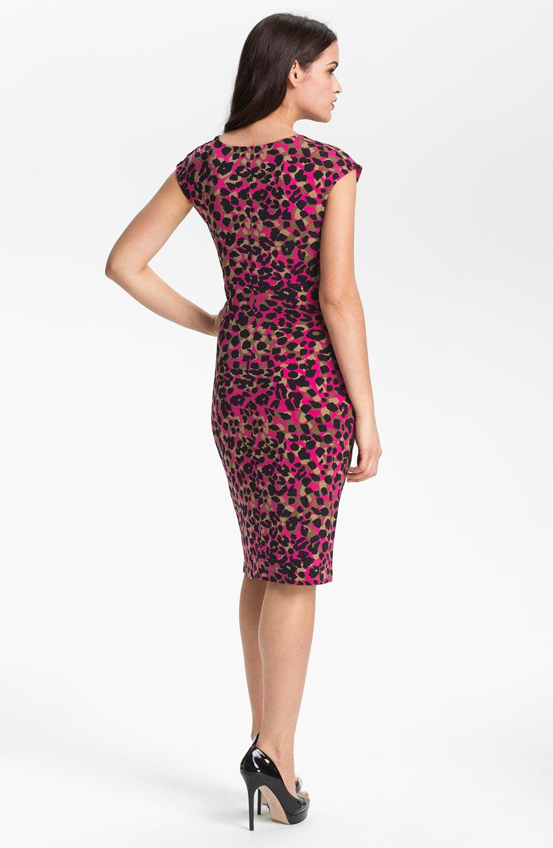 Alternate Image 2  - Anne Klein Drape Front Animal Print Dress