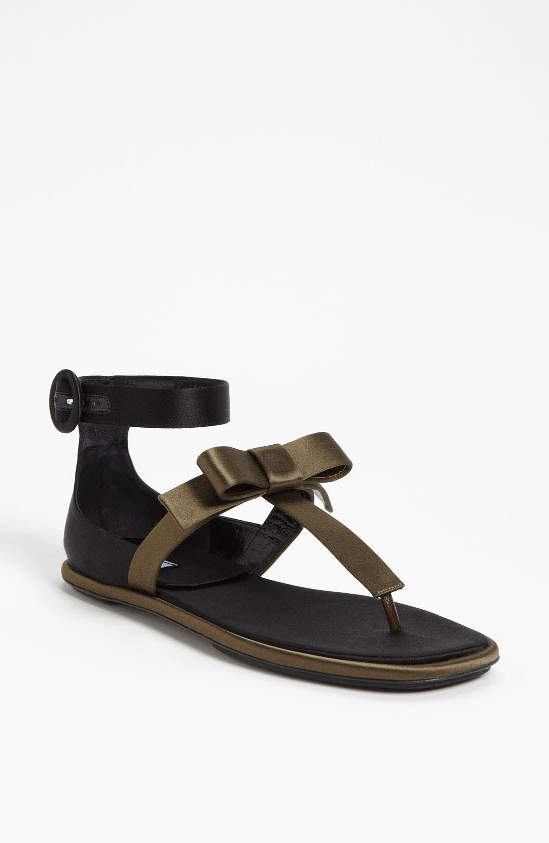 Alternate Image 1 Selected - Prada T-Strap Sandal