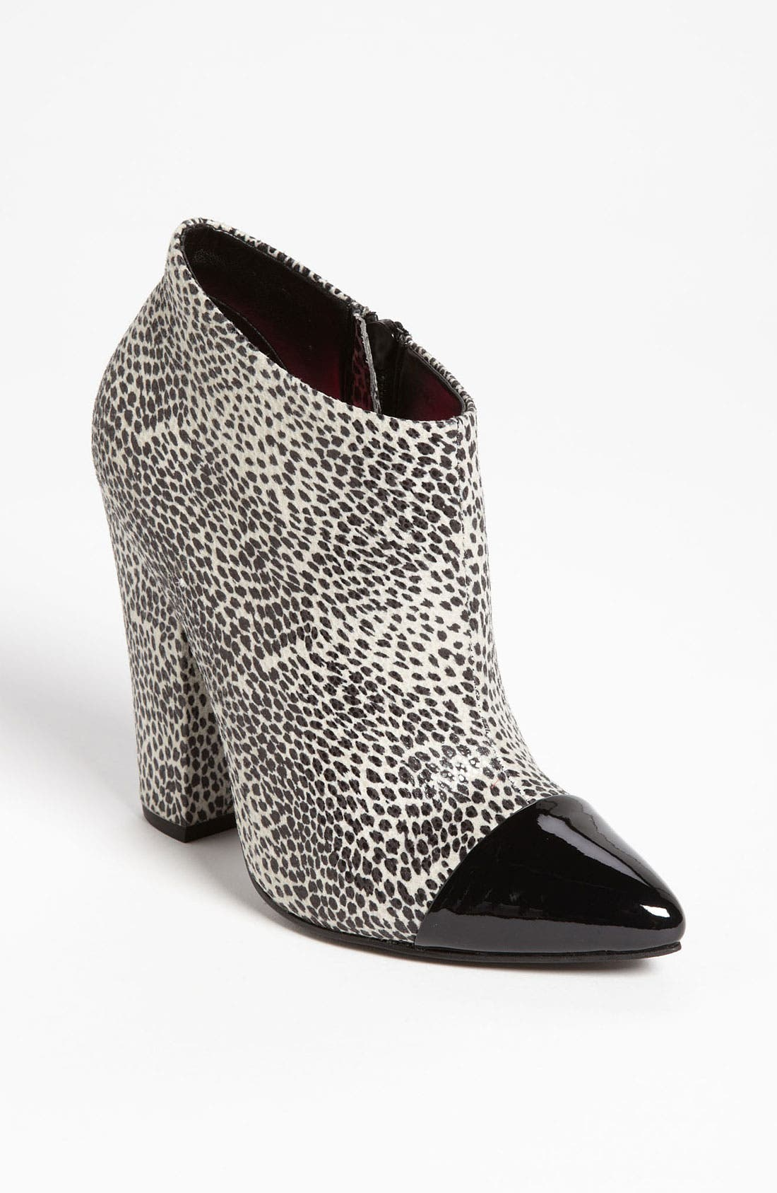 'Flawless' Bootie,                             Main thumbnail 1, color,                             Black/ White