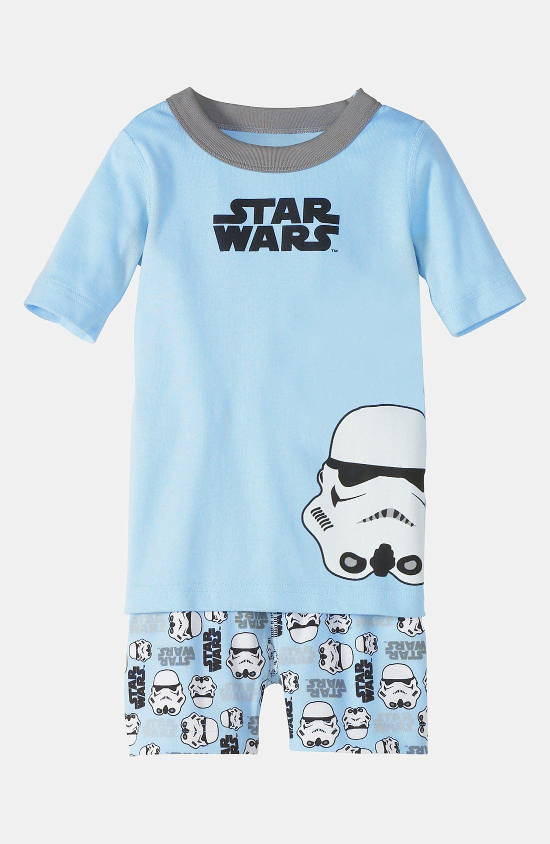 Main Image - Hanna Andersson Two Piece Fitted Pajamas (Toddler)