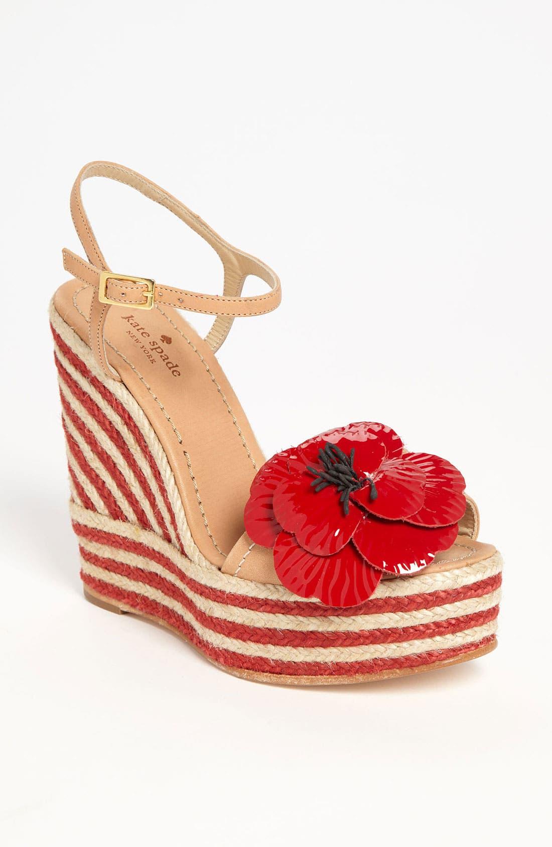 Alternate Image 1 Selected - kate spade new york 'lainey' wedge sandal