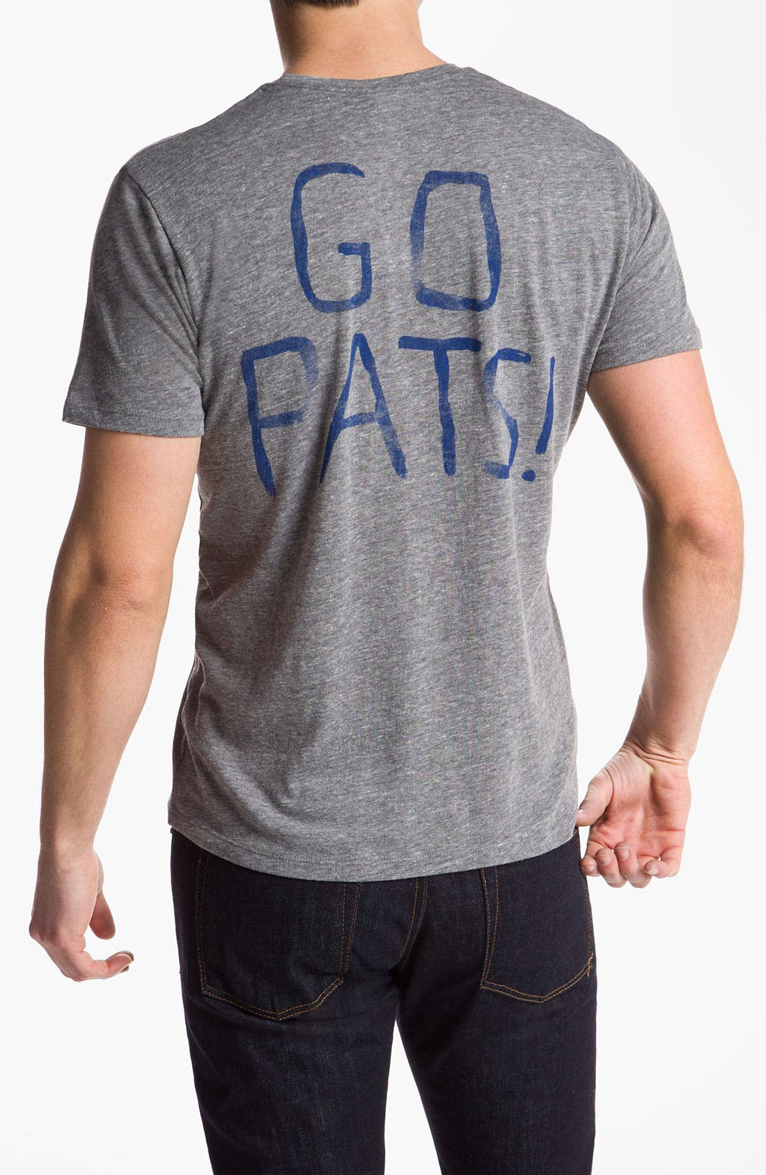 Alternate Image 2  - Junk Food 'New England Patriots' Graphic Crewneck T-Shirt