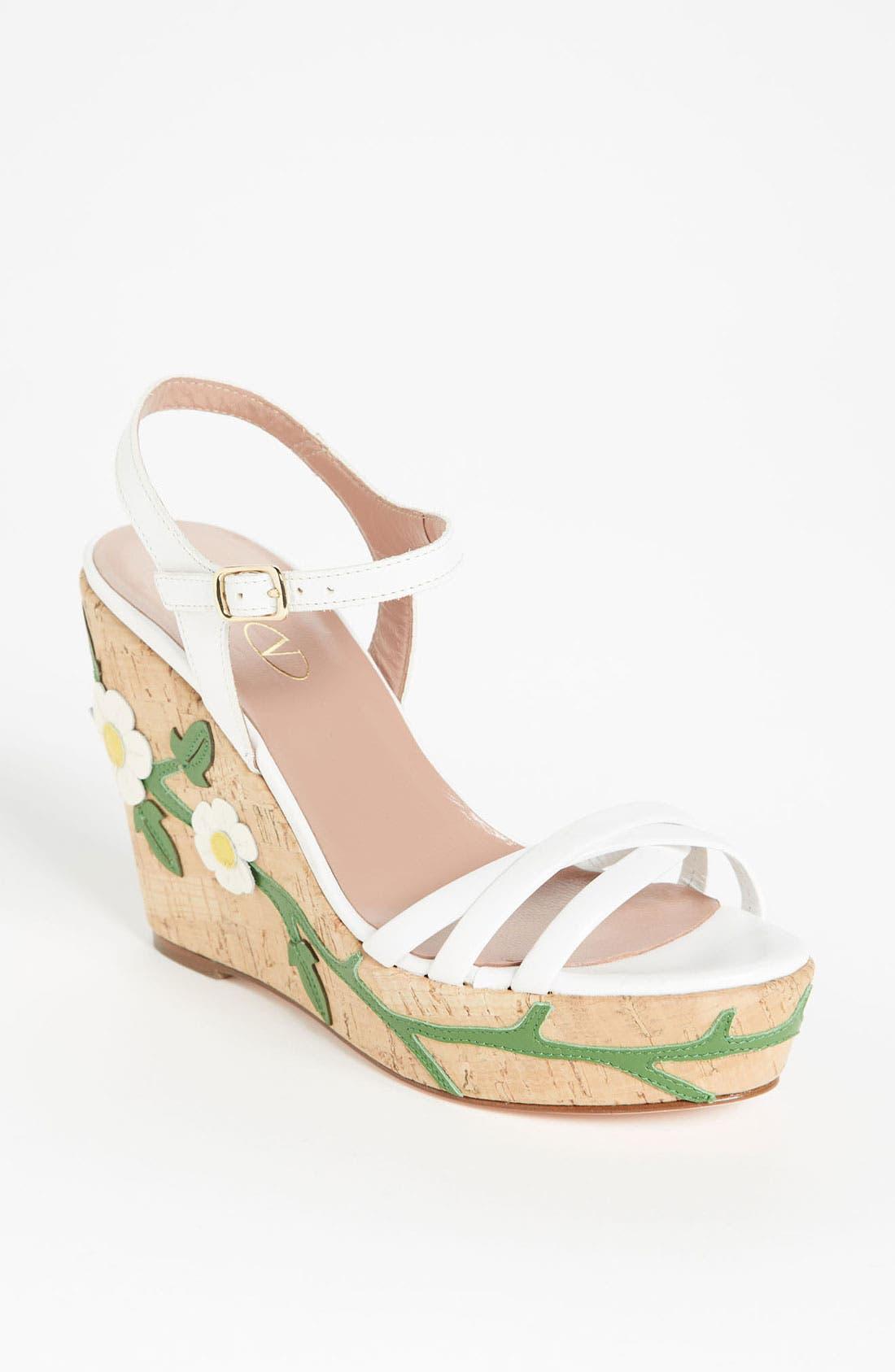 Main Image - RED Valentino 'Daisy' Wedge Sandal