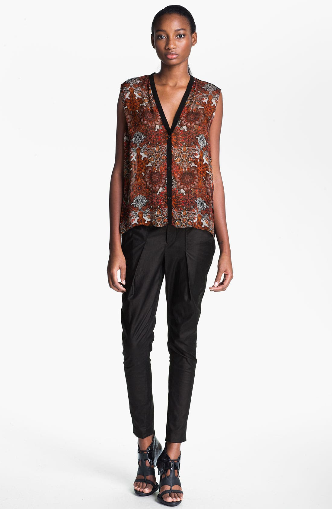 Alternate Image 6  - Helmut Lang 'Rift' Stretch Leather Crop Leggings
