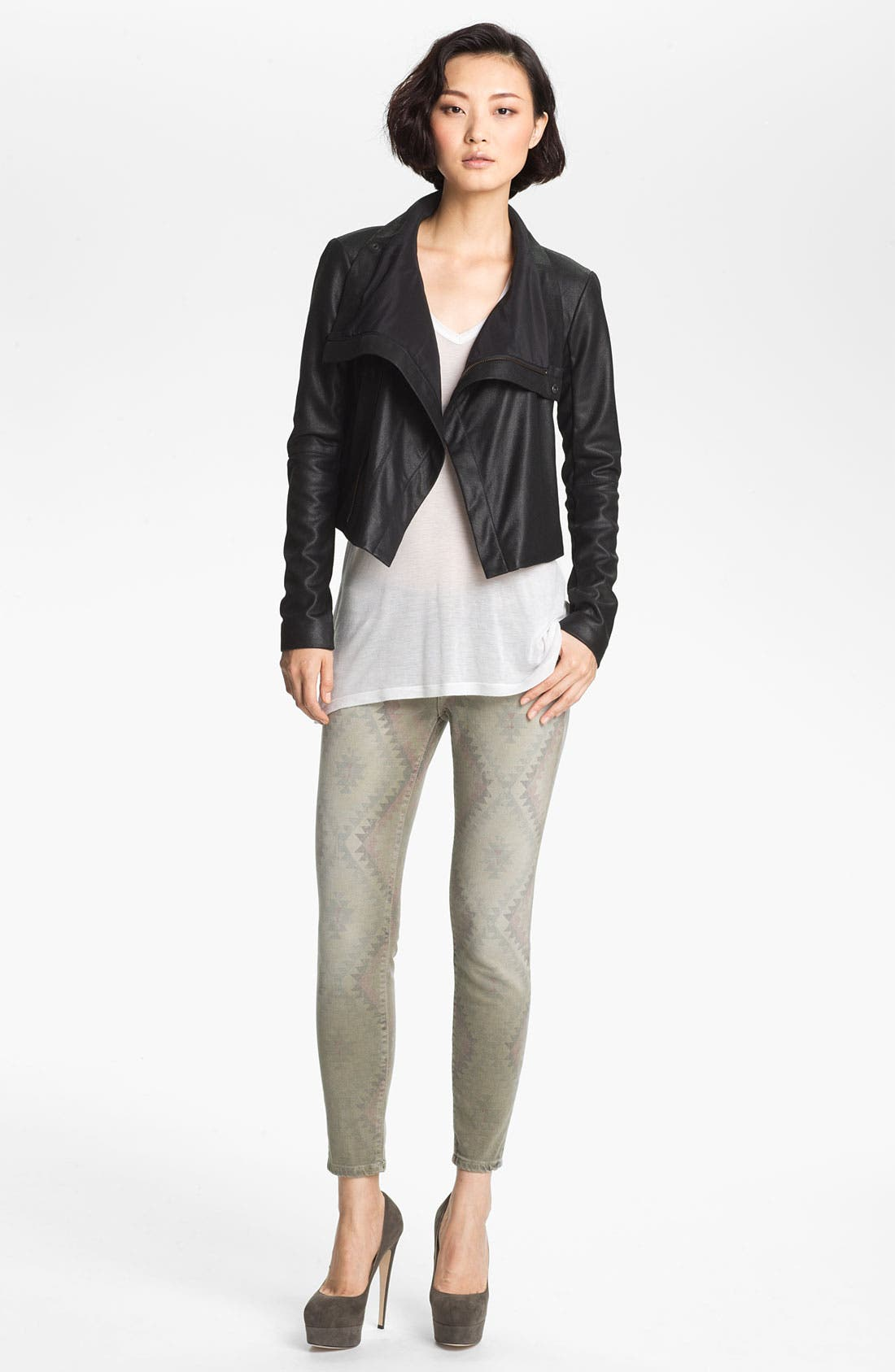 Alternate Image 1 Selected - Veda 'Max' Lightweight Leather Jacket