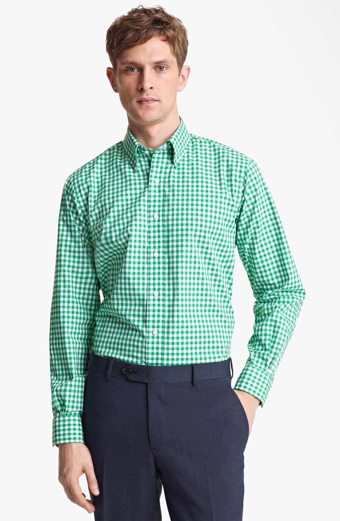 Main Image - Brooks Brothers by Jeffrey Gingham Shirt