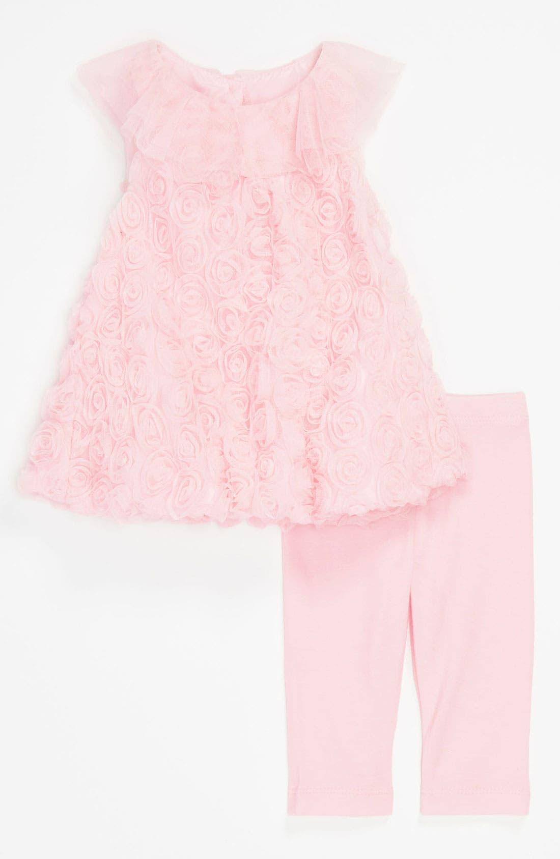 Alternate Image 1 Selected - Pippa & Julie Soutache Bubble Dress & Leggings (Infant)