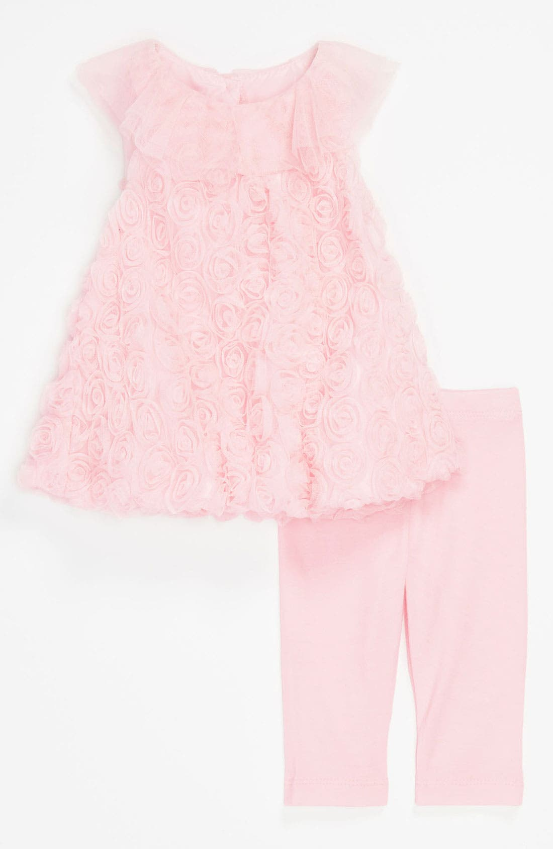 Main Image - Pippa & Julie Soutache Bubble Dress & Leggings (Infant)
