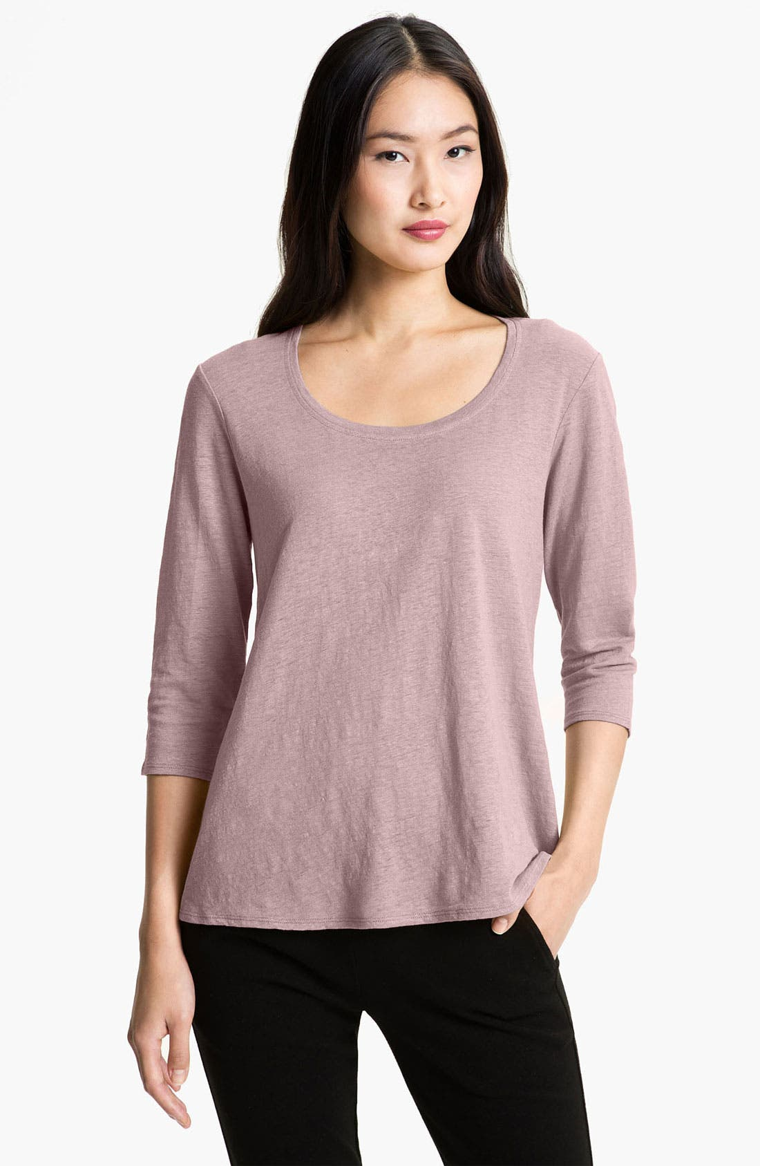Alternate Image 1 Selected - Eileen Fisher A-Line Linen Tee