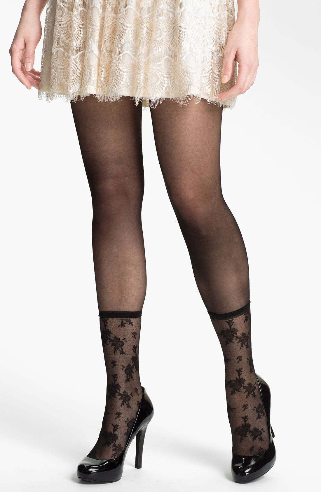 Alternate Image 1 Selected - Nordstrom 'Layer on the Lace' Tights