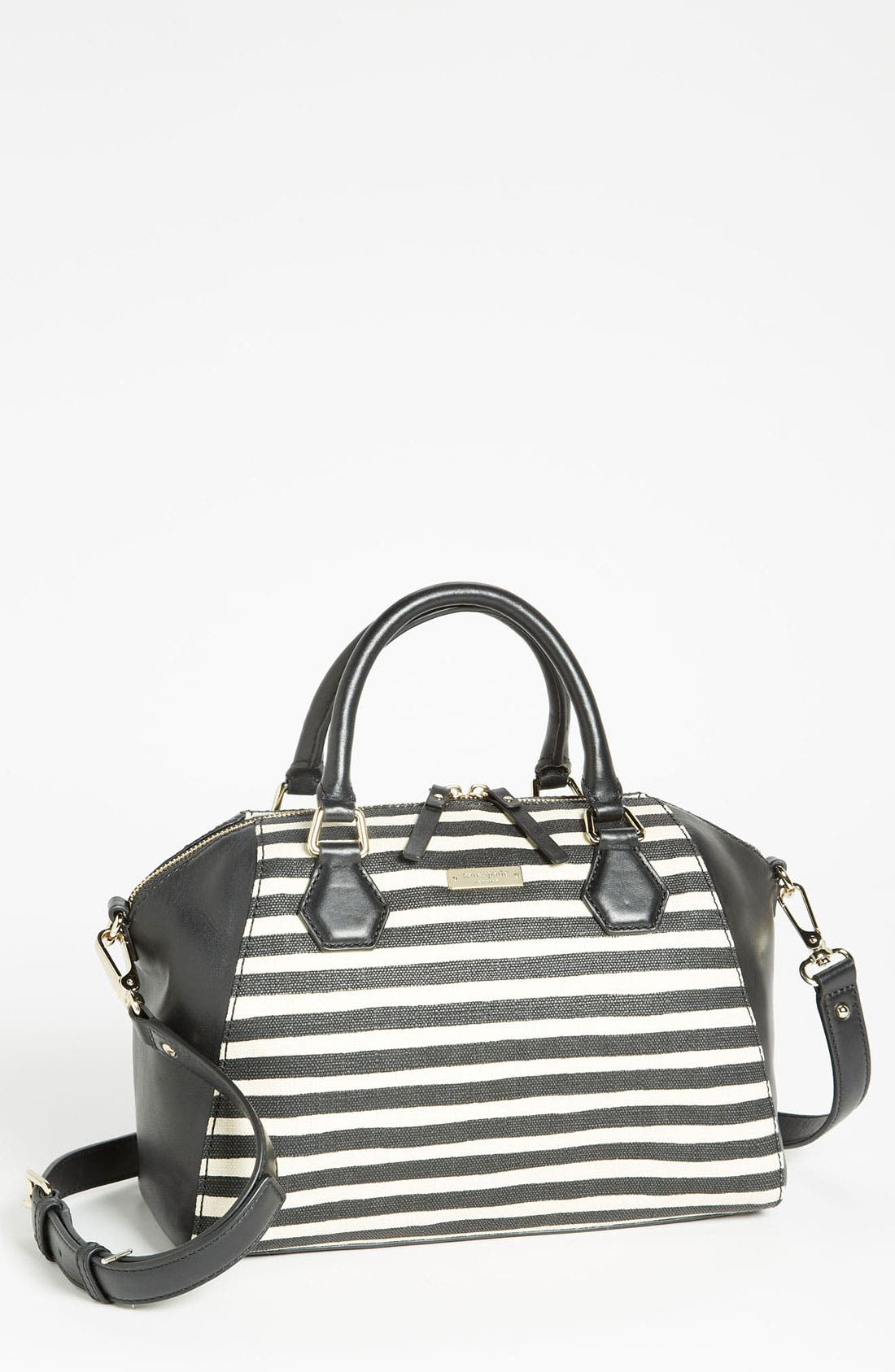 Main Image - kate spade new york 'catherine street - pippa' stripe satchel