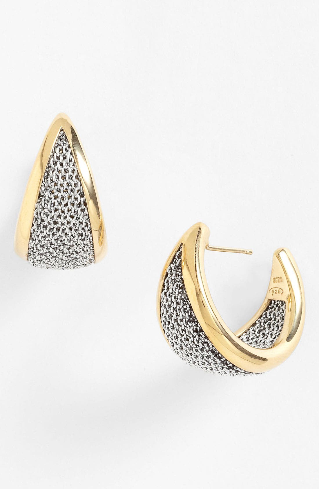 Main Image - Adami & Martucci 'Mesh' Hoop Earrings (Nordstrom Exclusive)