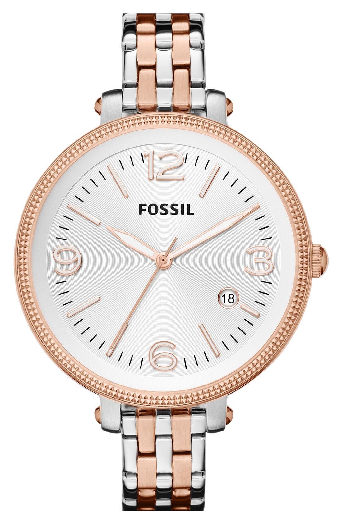 Alternate Image 1 Selected - Fossil 'Heather' Bracelet Watch, 42mm