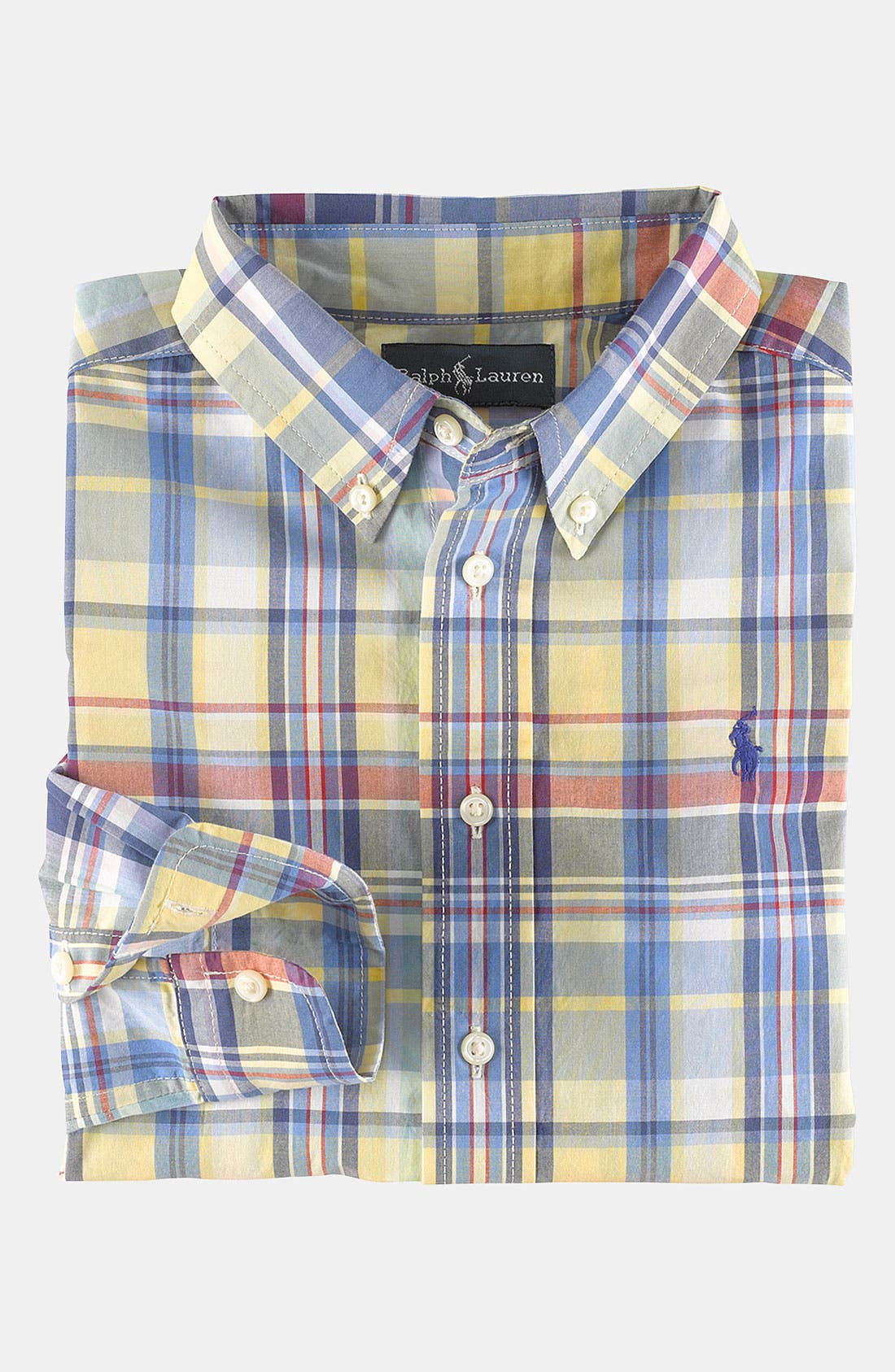 Alternate Image 1 Selected - Ralph Lauren Poplin Shirt (Toddler)