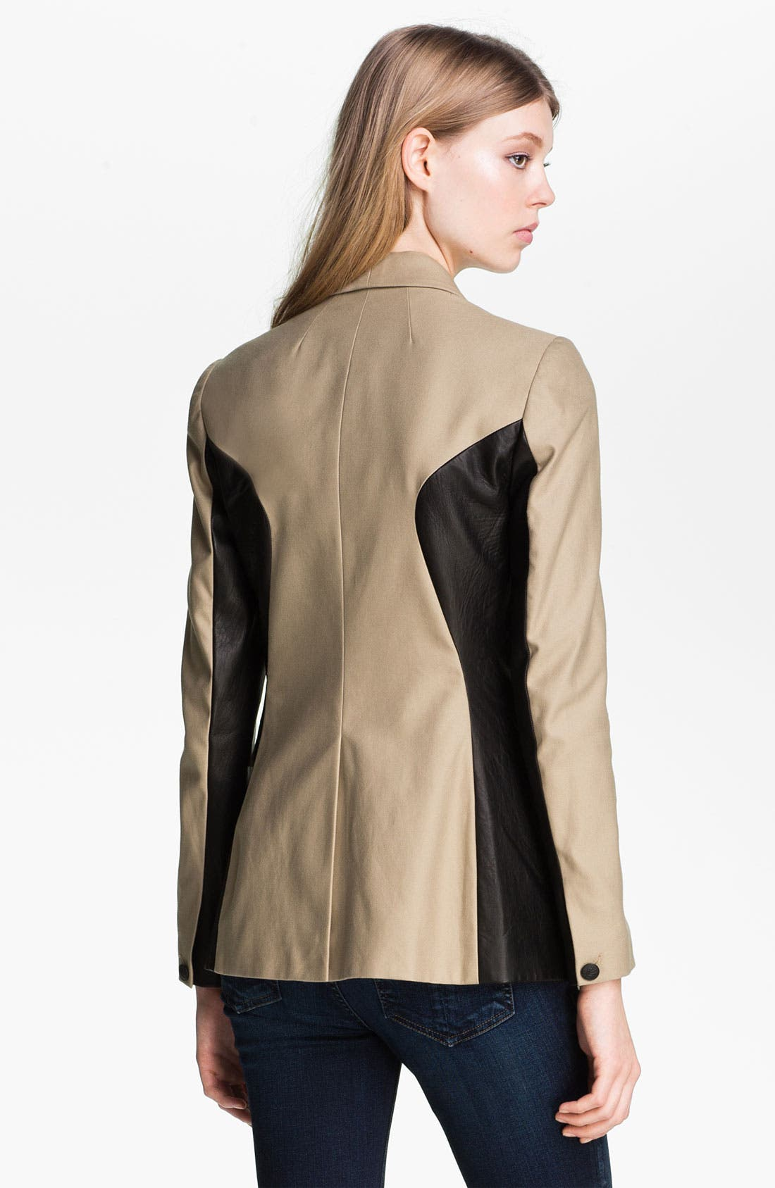 Alternate Image 3  - rag & bone 'Jefferson' Leather Panel Blazer