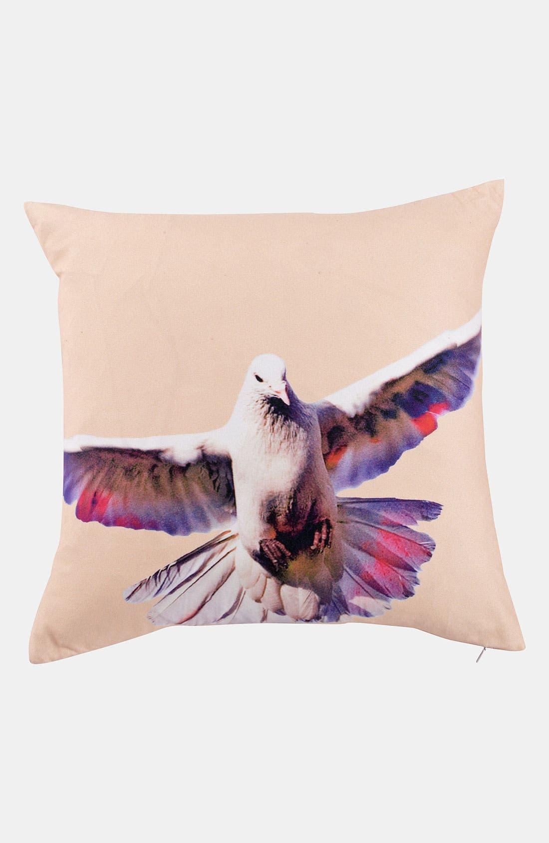 'Blossom Bird' Pillow,                         Main,                         color, Light Peach