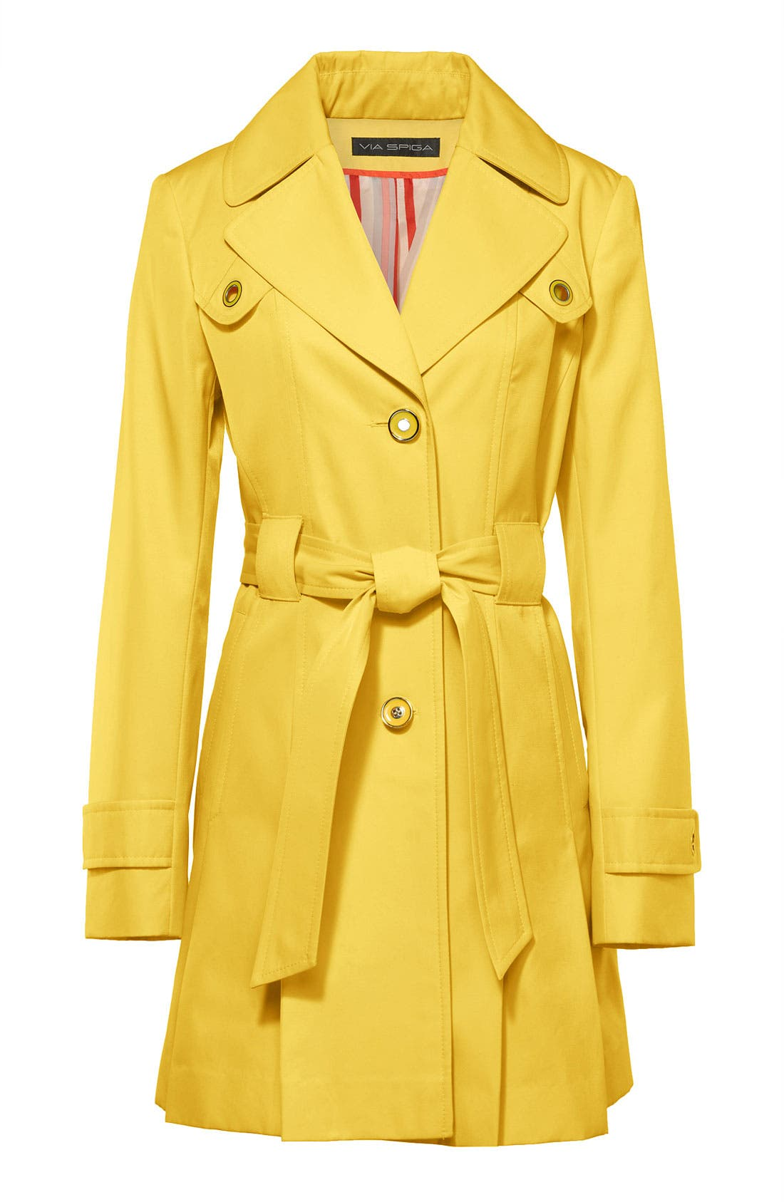 Alternate Image 7  - Via Spiga Pleated Trench Coat (Regular & Petite)