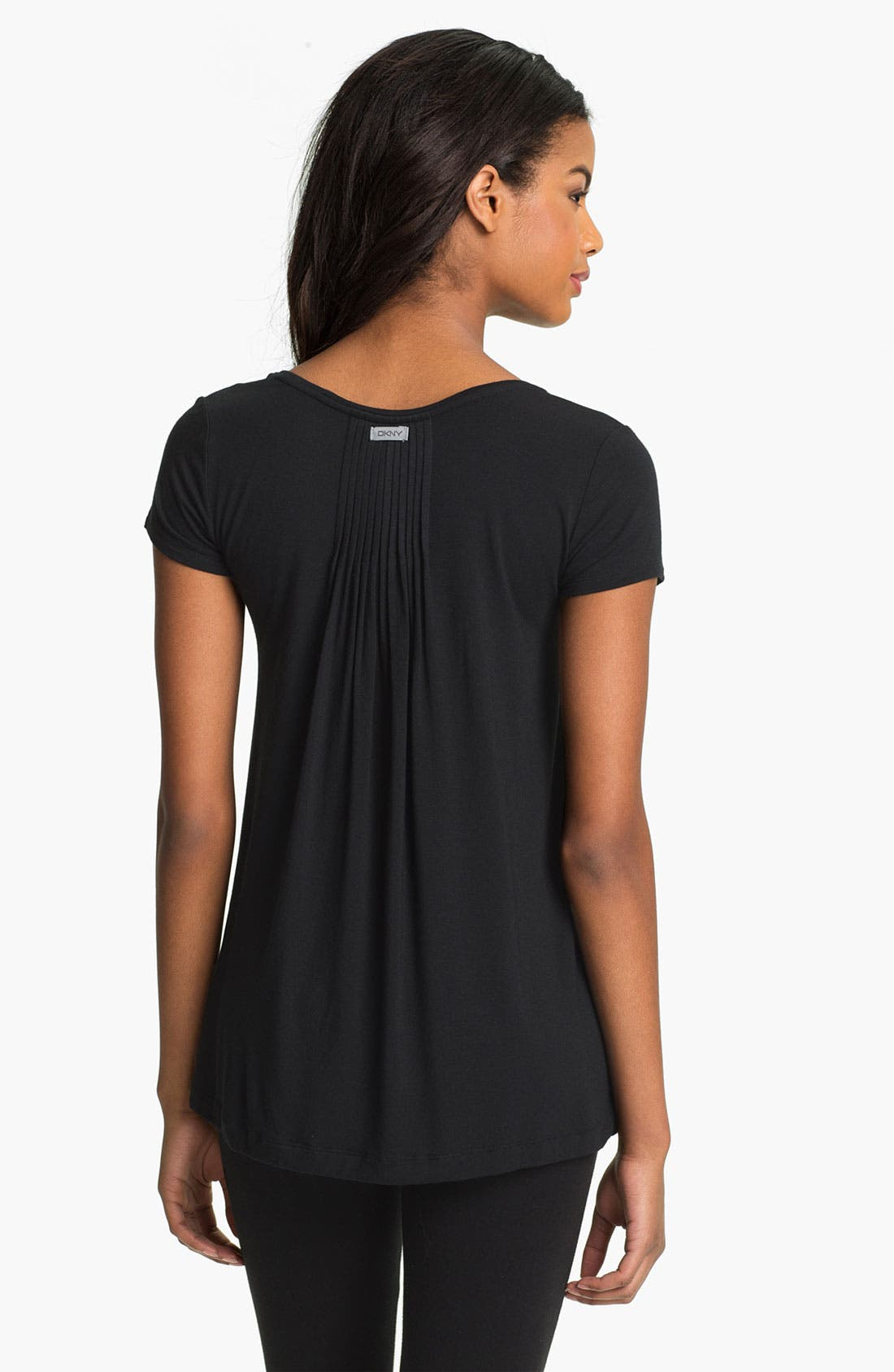 Alternate Image 2  - DKNY '7 Easy Pieces' Pintuck Top (Regular & Petite)