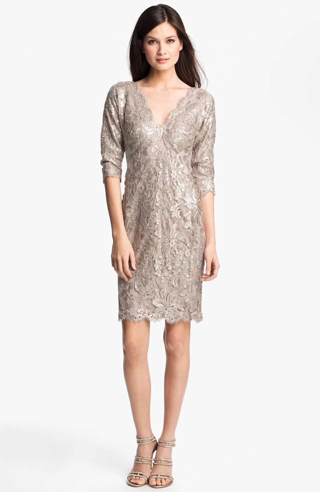 Alternate Image 1 Selected - Tadashi Shoji Sequin Lace Dress