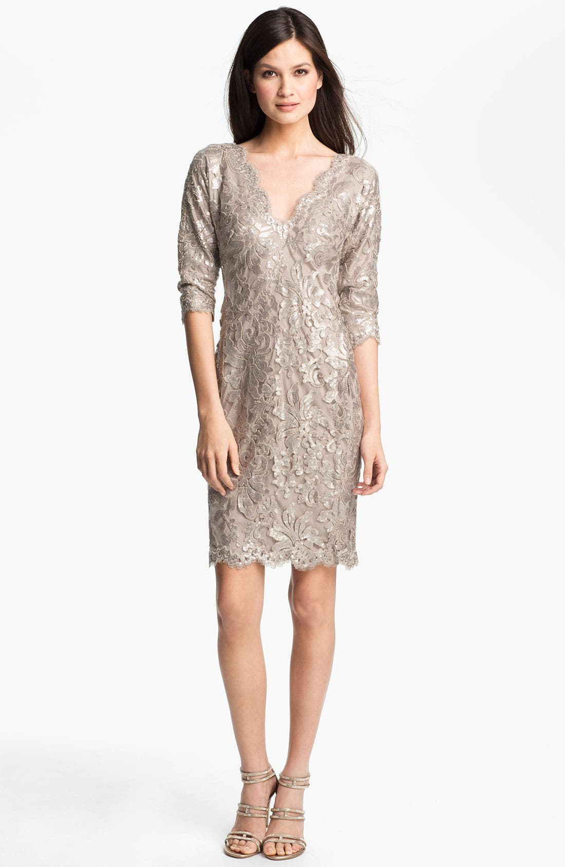 Main Image - Tadashi Shoji Sequin Lace Dress