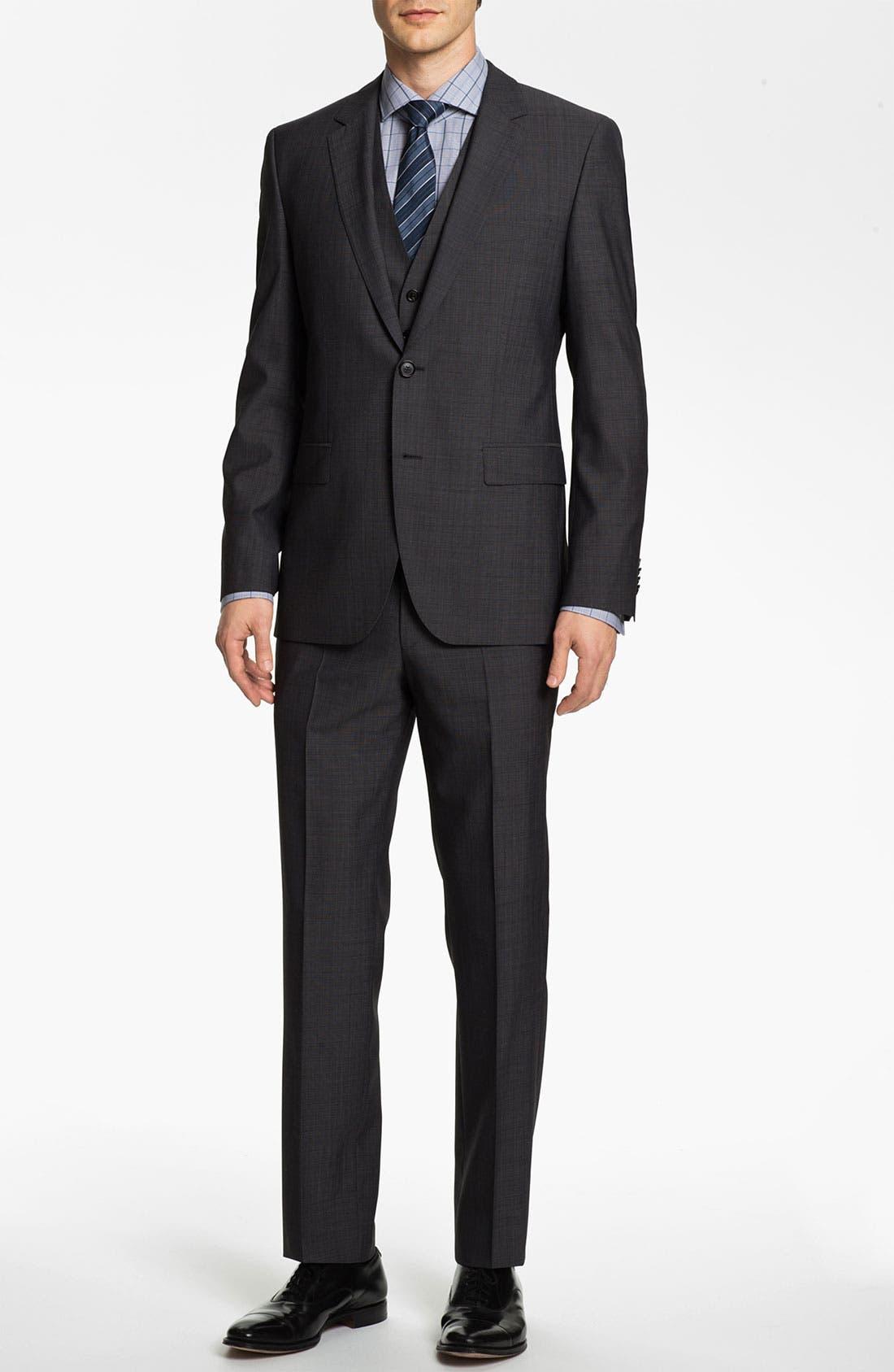 Alternate Image 2  - BOSS Black 'James/Sharp' Trim Fit Three Piece Suit